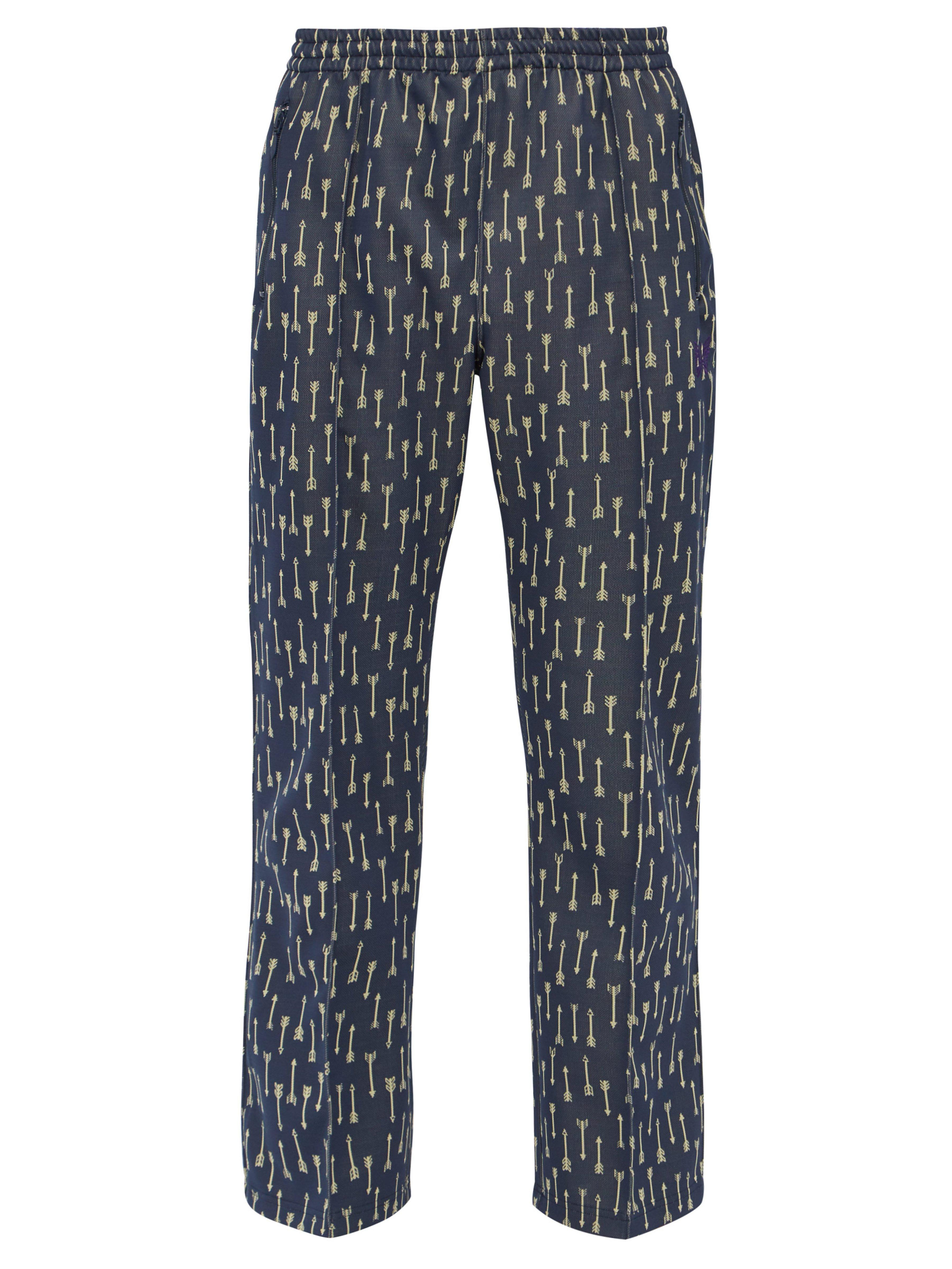 92b809a2 Needles Arrow Jacquard Technical Jersey Track Pants in Blue for Men ...