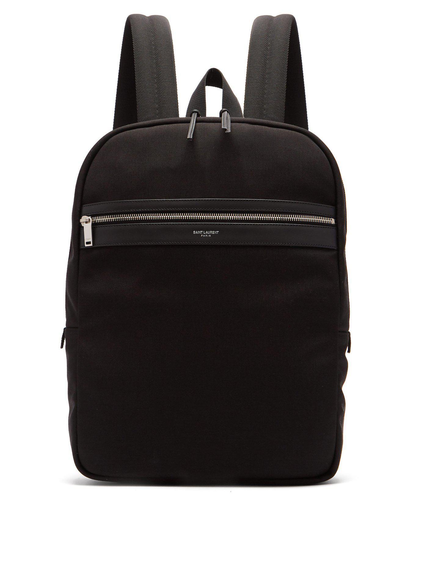 abd6fa9b5a2f ... Black City Canvas Backpack for Men - Lyst. View fullscreen