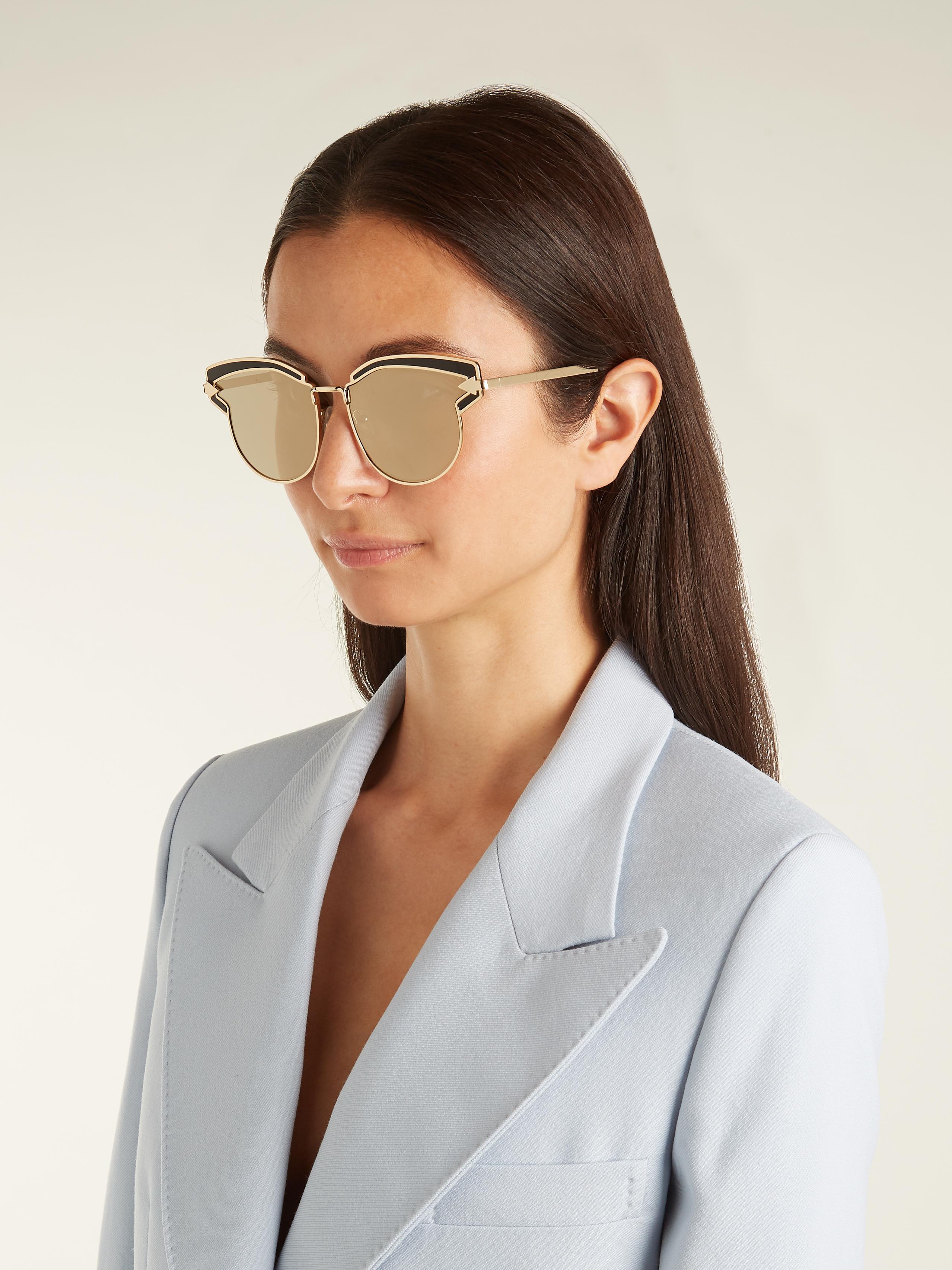 55f16872f1c Lyst - Karen Walker Felipe Cat-eye Sunglasses in Metallic