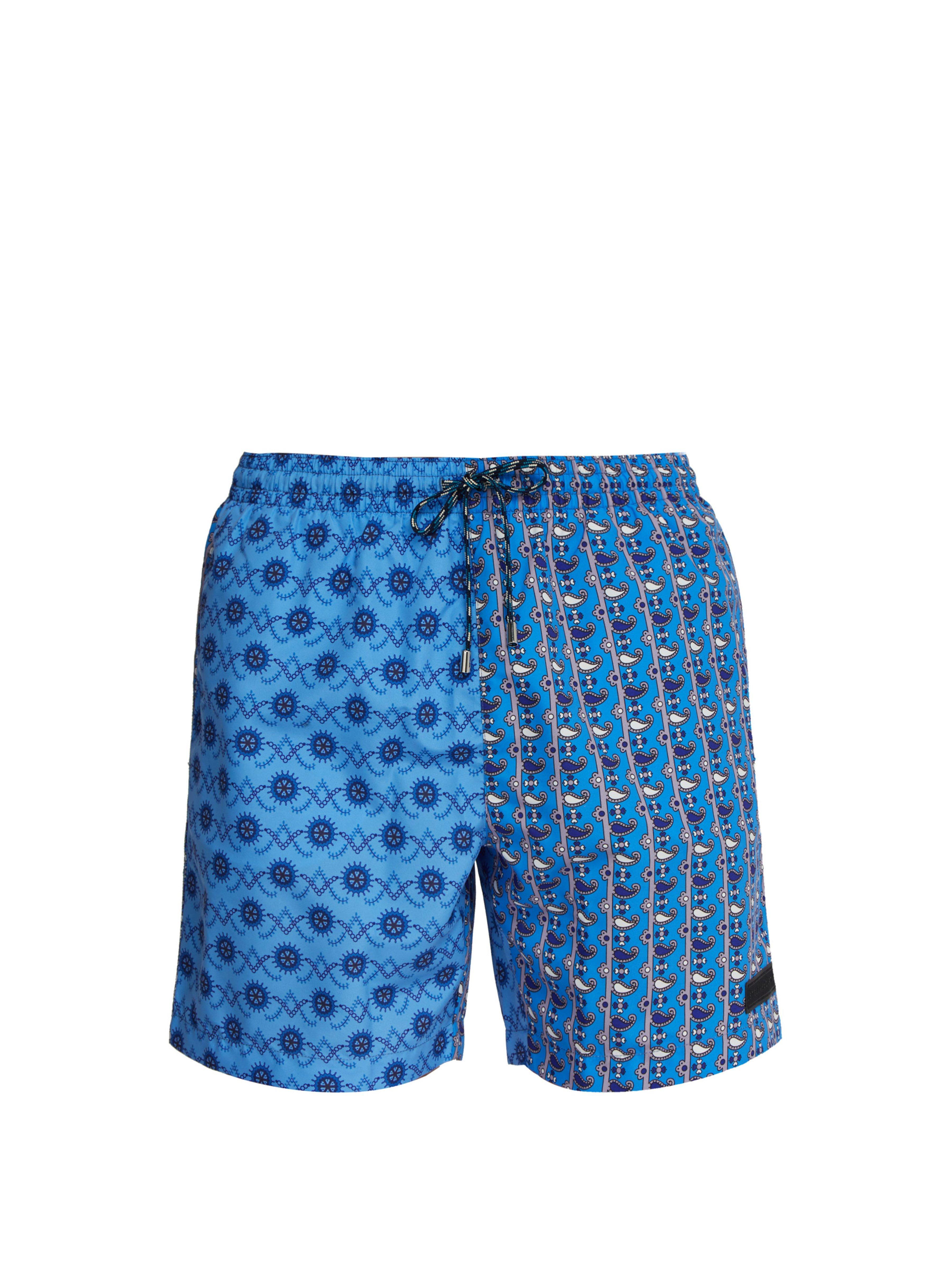 0c665c6ebc Stella McCartney Nautical And Paisley Print Swim Shorts in Blue for ...