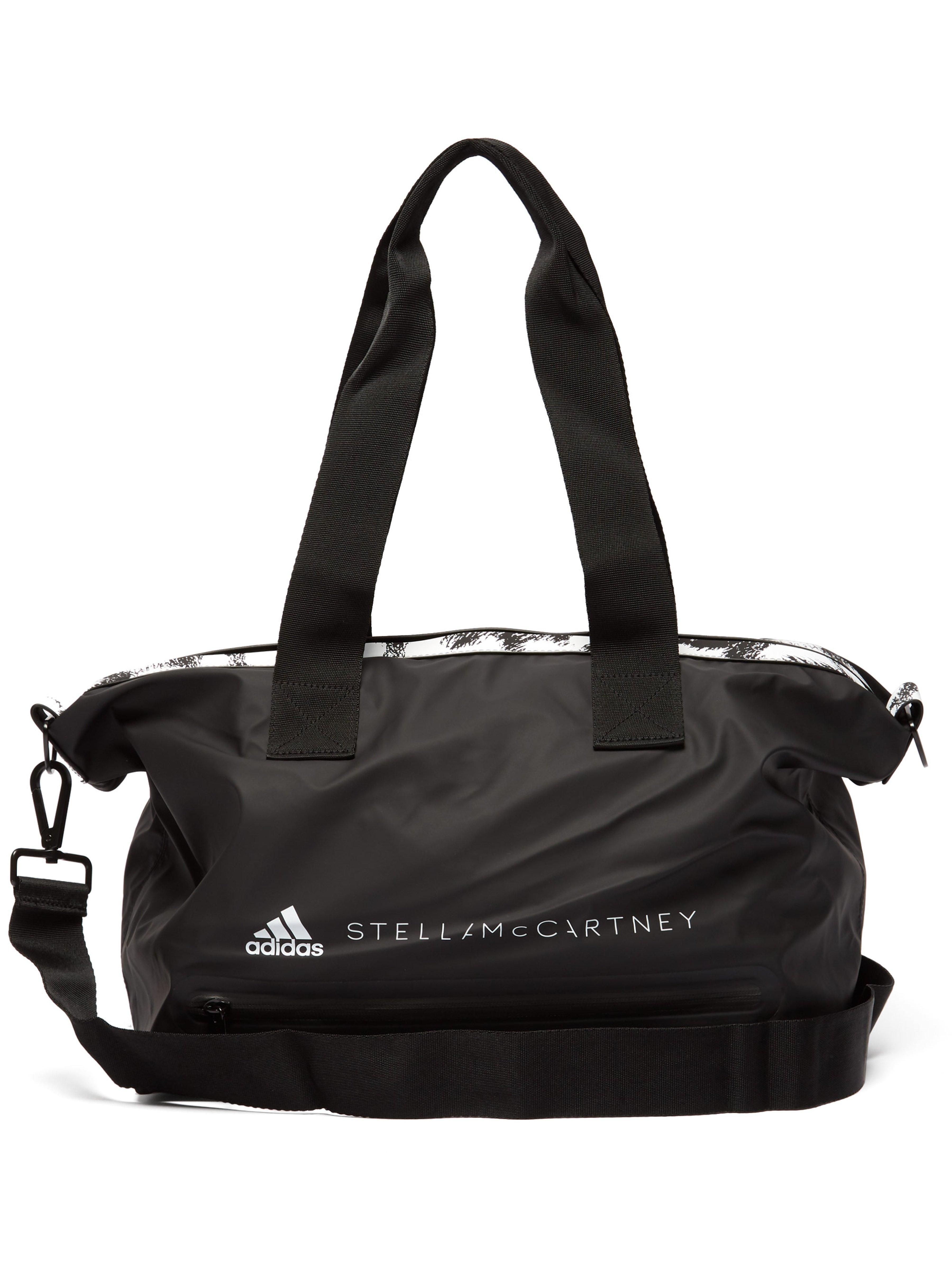 ecb9c0db82 adidas By Stella McCartney Small Leopard Trim Studio Bag in Black - Lyst