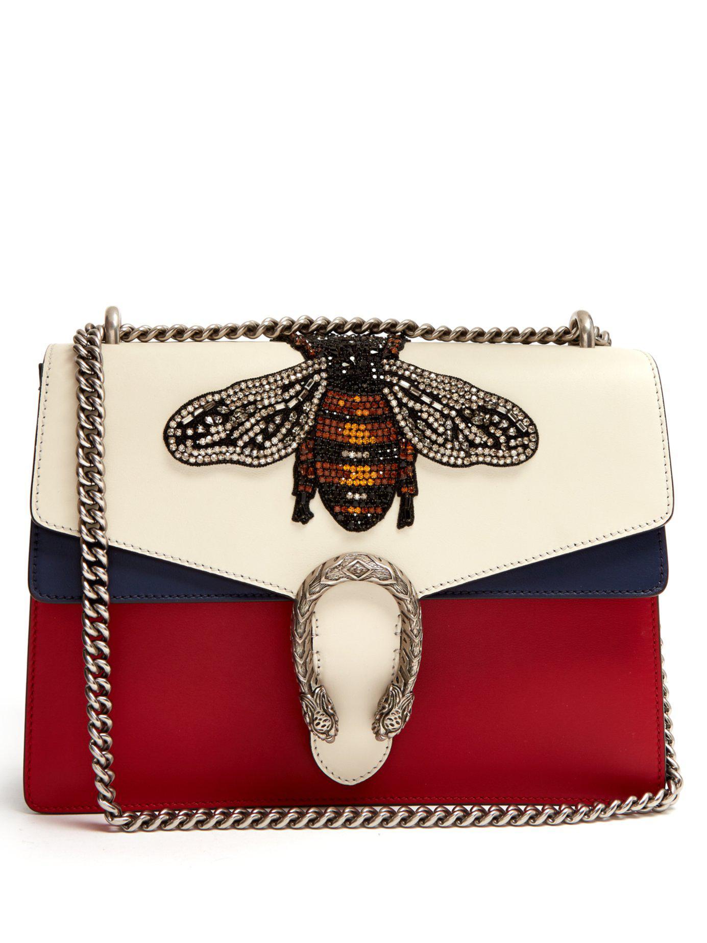 057bbbcfe96 Gucci. Women s Dionysus Large Bee Appliqué Leather Shoulder Bag