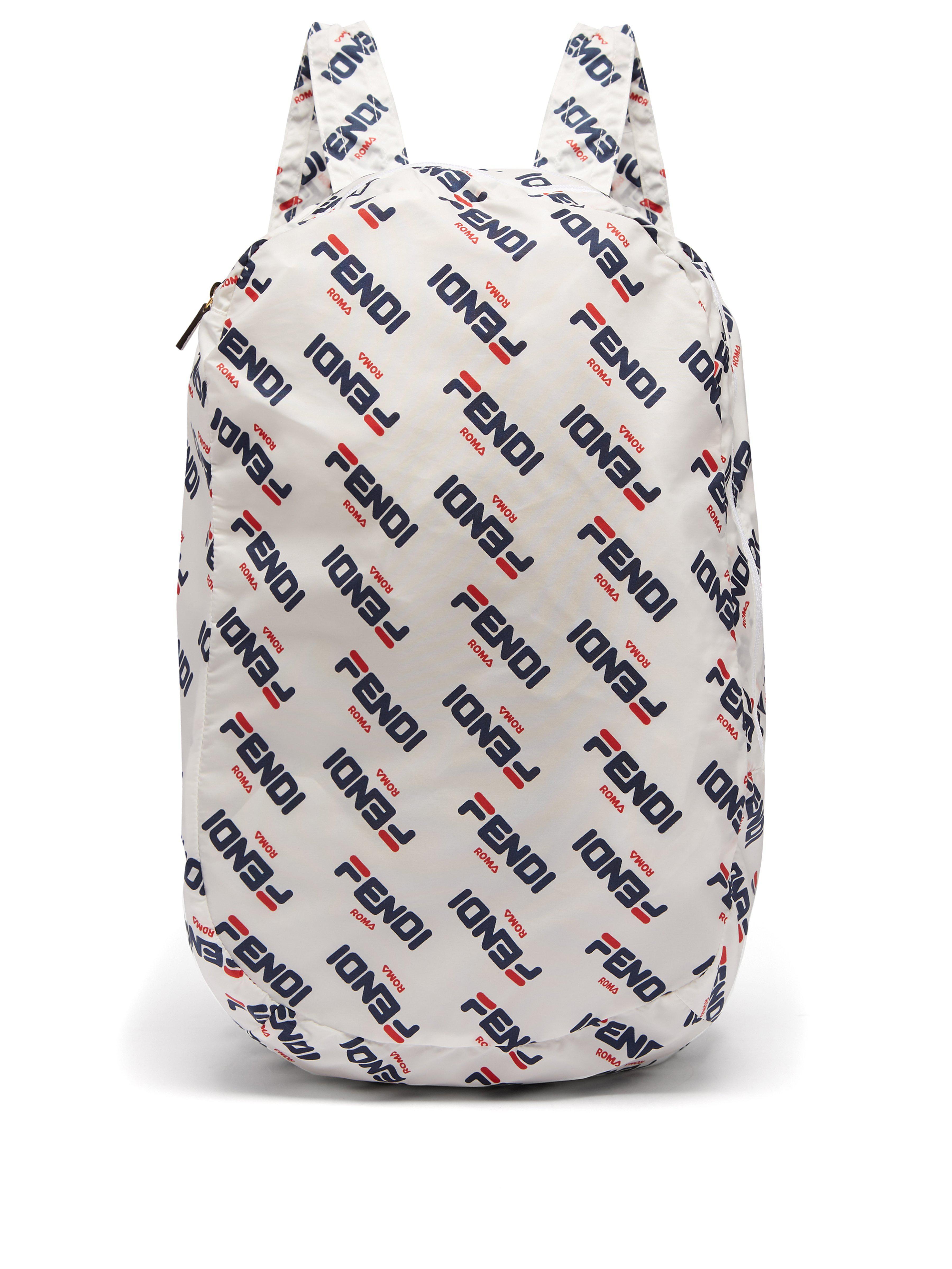 Fendi Mania Help Leather Bag Charm in White - Lyst 2fab98f1a5704