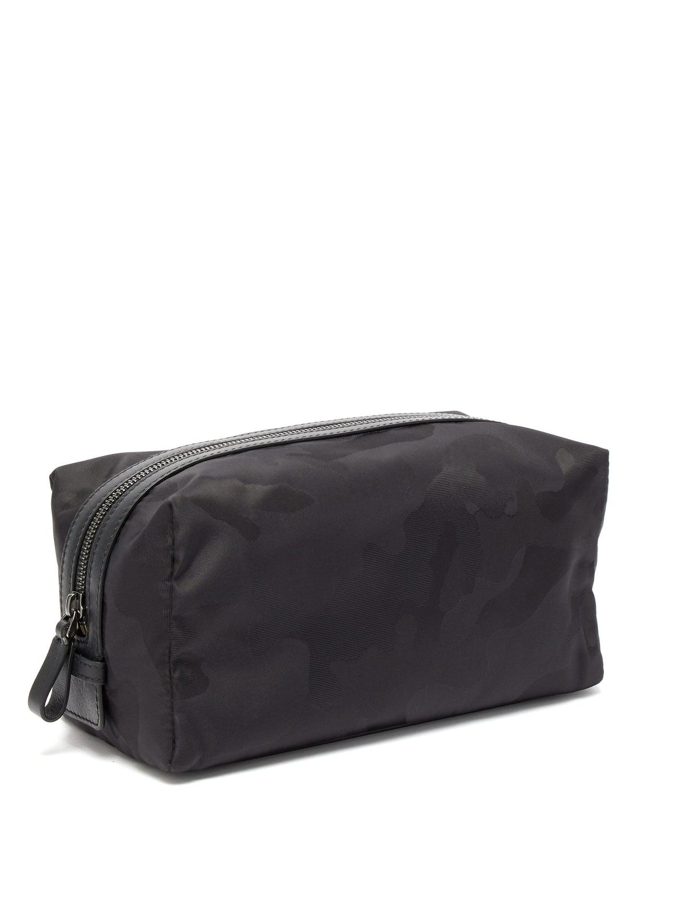 b69fe1bbe36 Valentino Camouflage Jacquard Wash Bag in Black for Men - Lyst