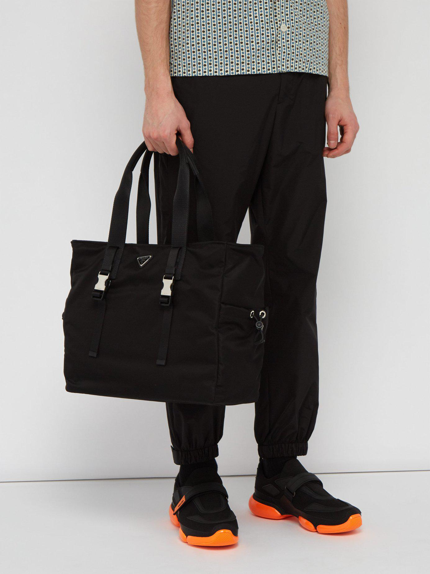 5b2cbf9b530f4a Lyst - Prada Nylon Weekend Bag in Black for Men - Save 20%