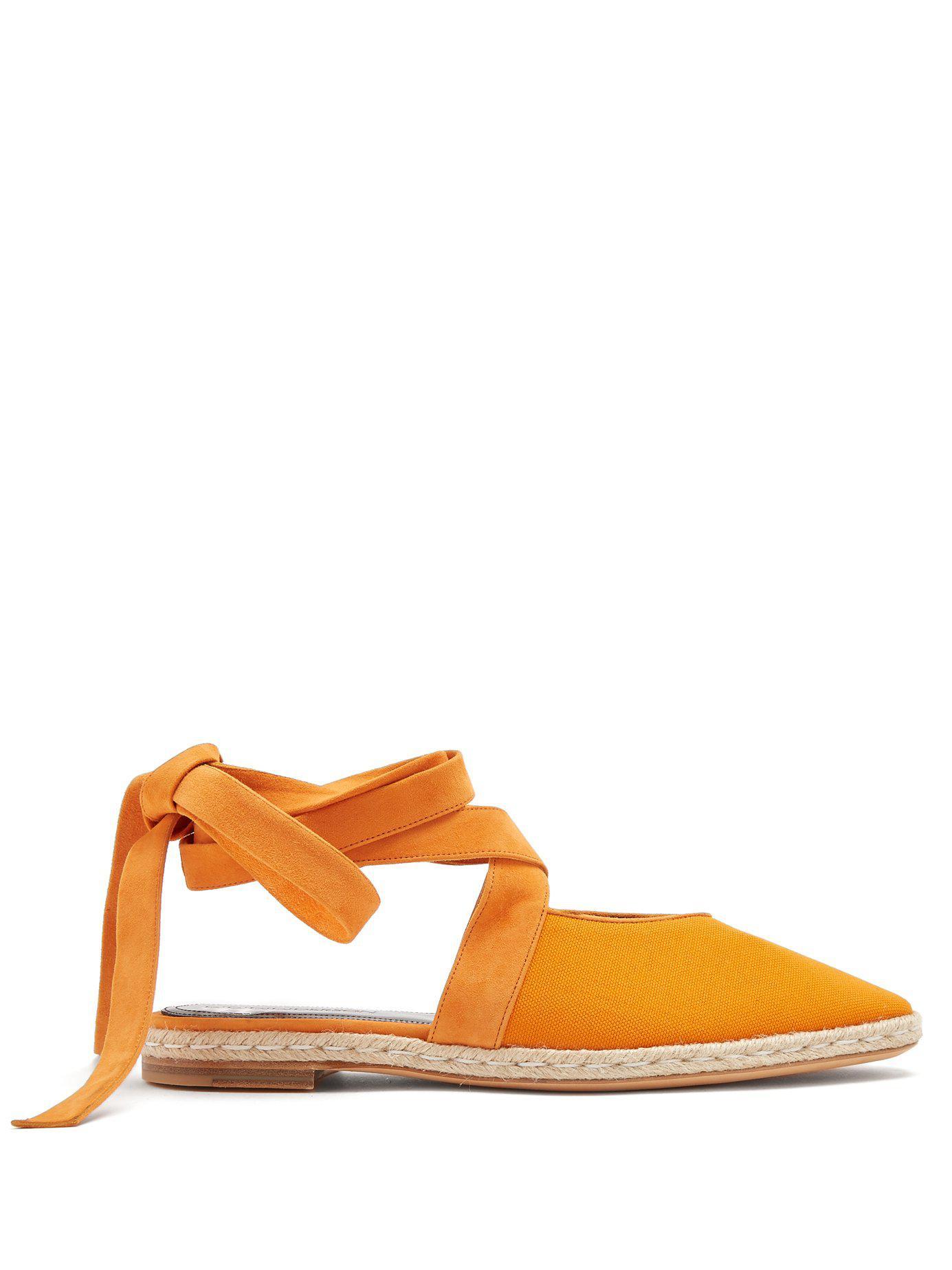 buy popular dd2c0 9d66c jw-anderson-orange-Suede-Trimmed-Lace-Up-Espadrilles.jpeg
