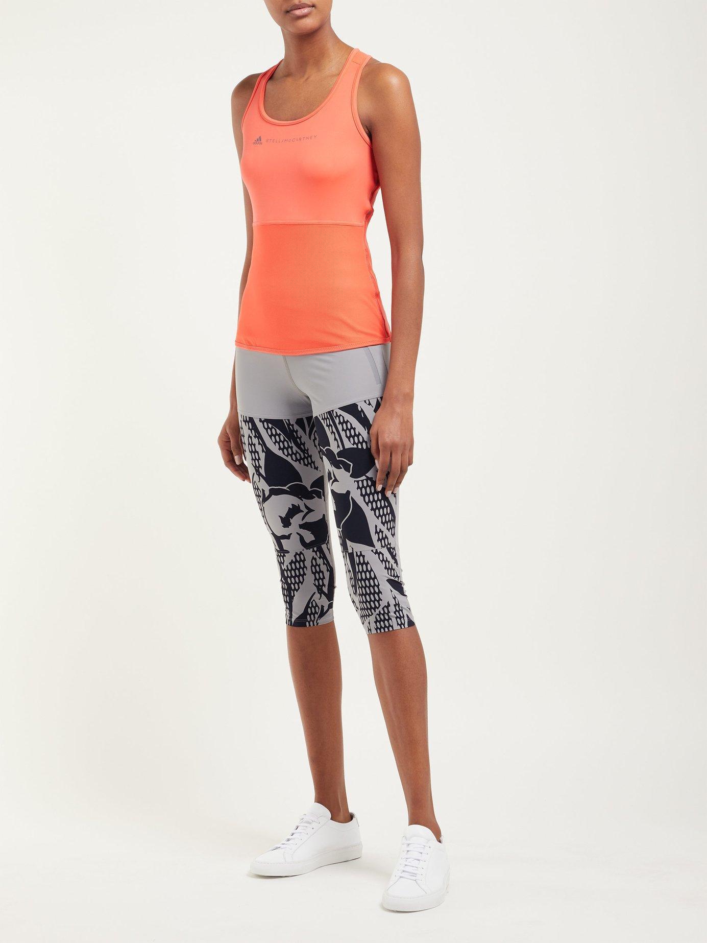 dc2fa6047244 Lyst - adidas By Stella McCartney Run Az Floral Print Leggings in Gray