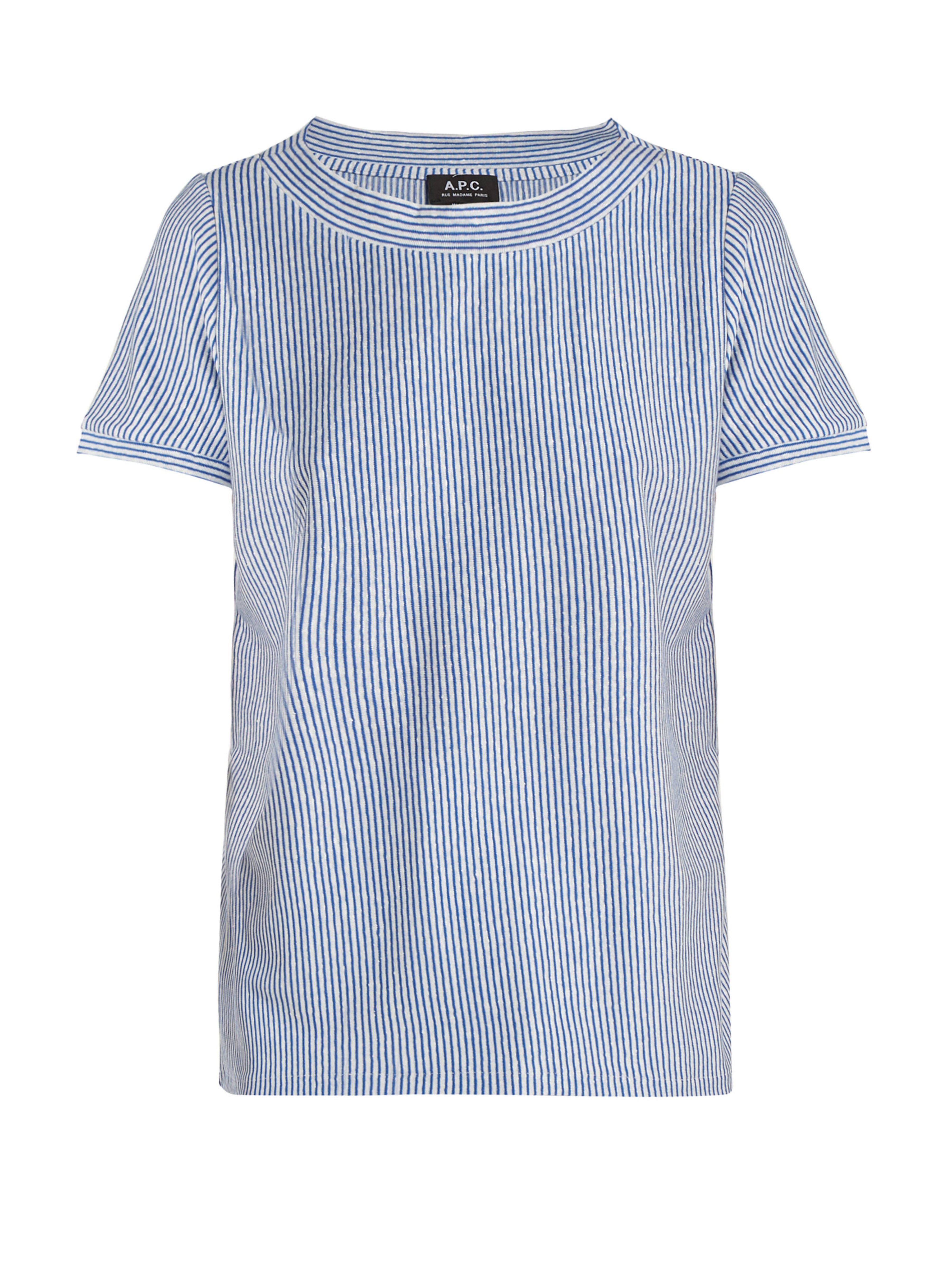 Camiseta Mara A Blend Striped p Linen c 00qrp