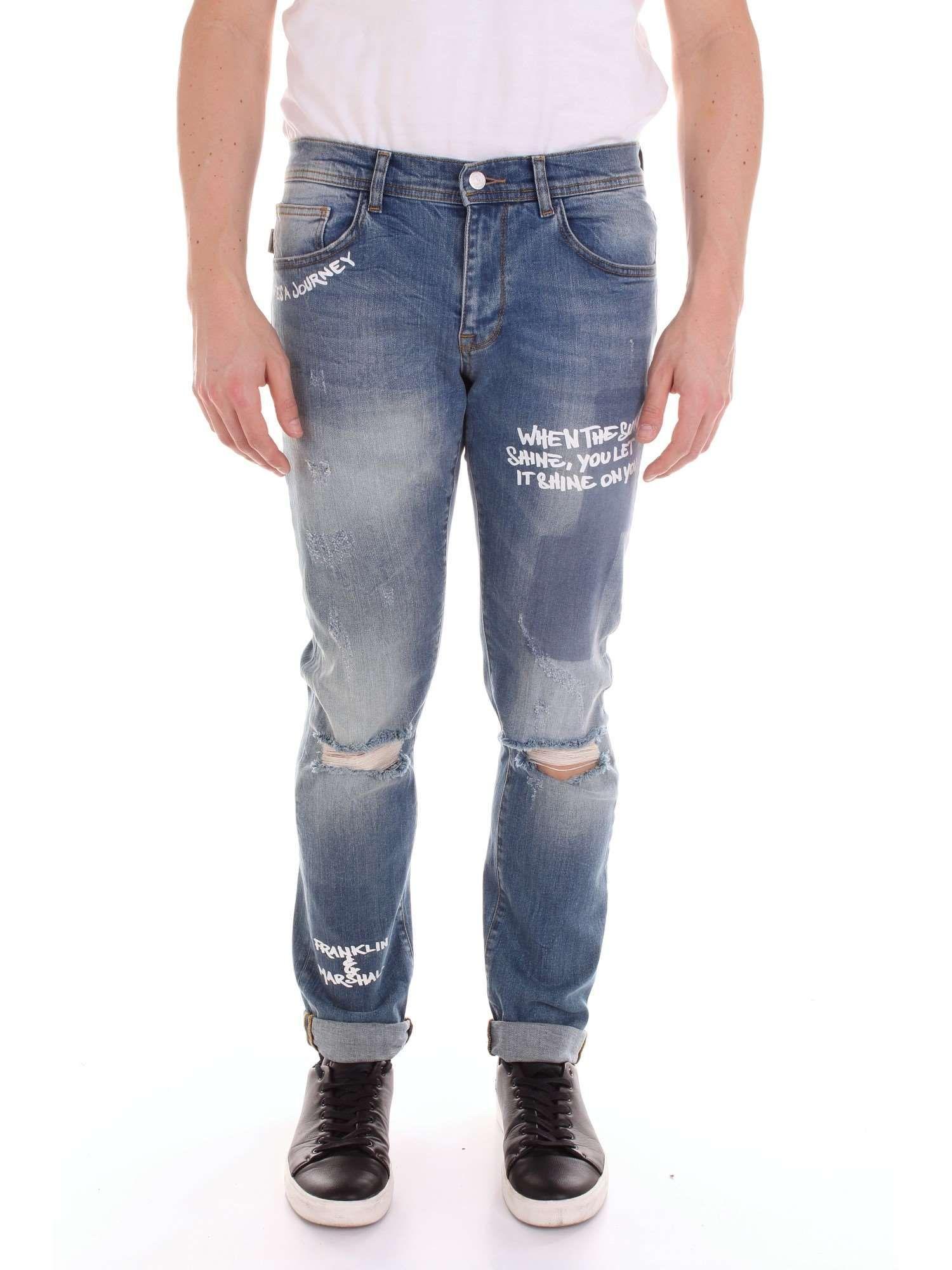 outlet store c0af0 61c7c Lyst - Franklin & Marshall Blue Cotton Jeans in Blue for Men