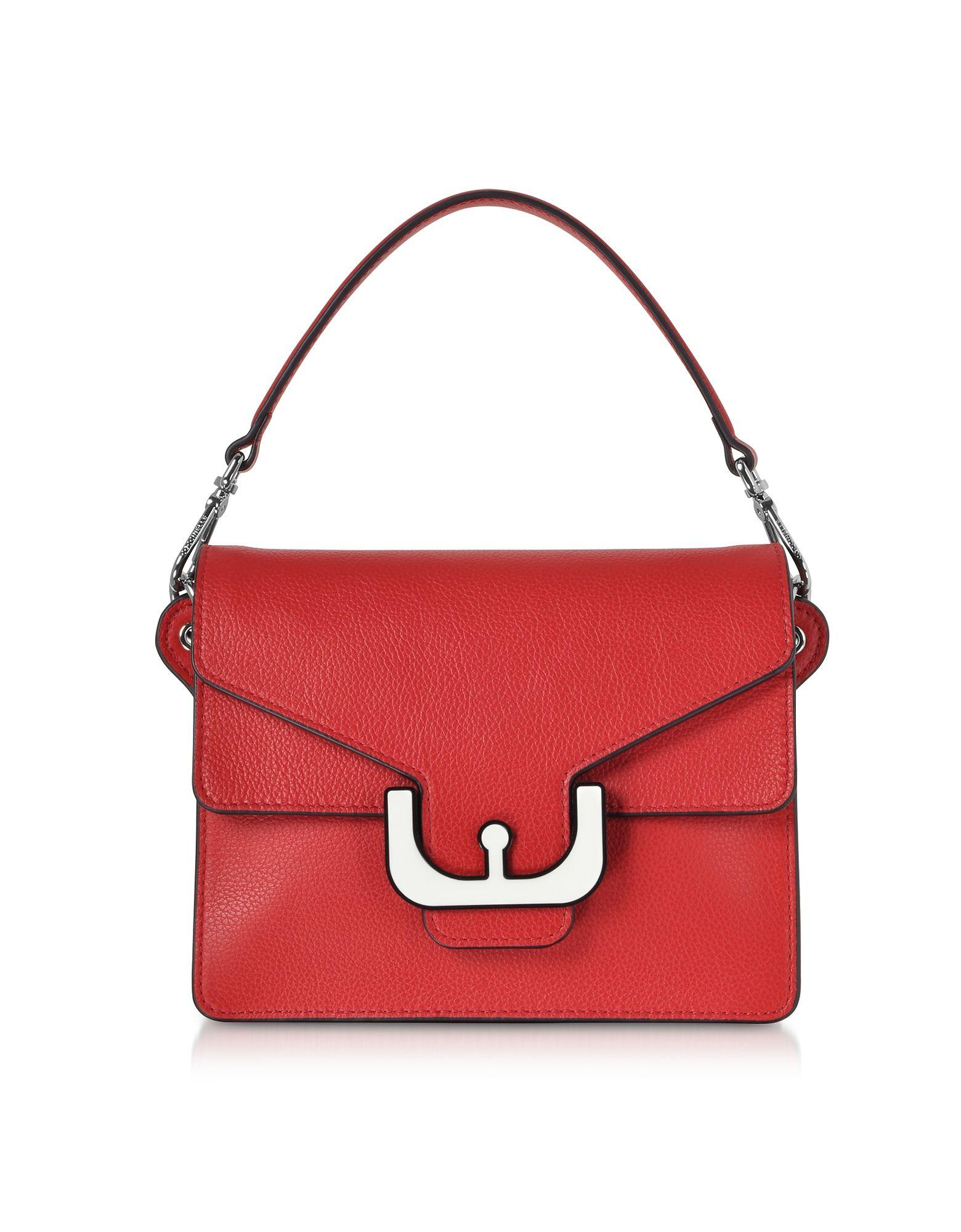 39e87141def268 Coccinelle Red Leather Handbag in Red - Lyst