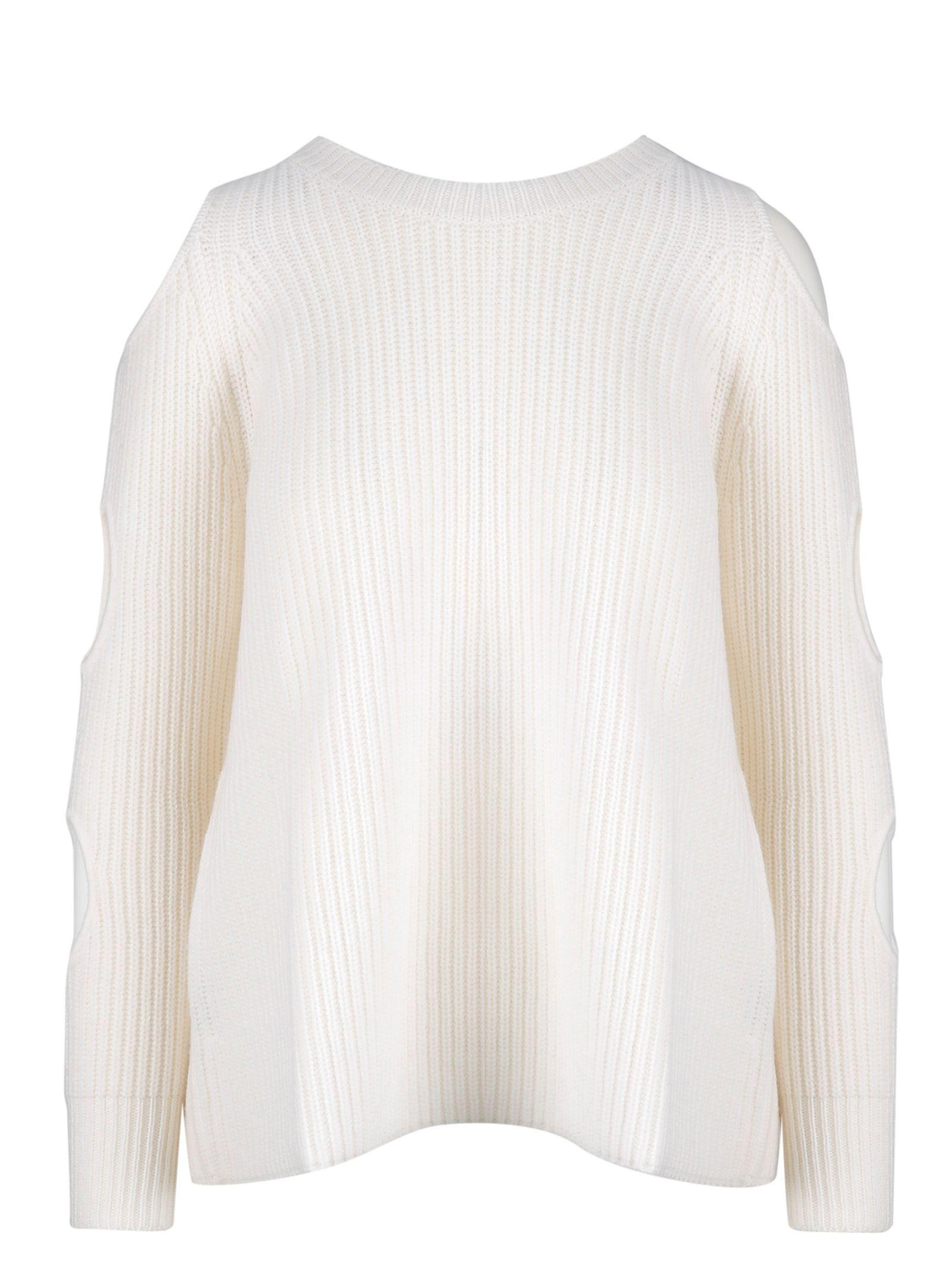 d7842c278cb1 Lyst - Zoe Jordan White Wool Sweater in White
