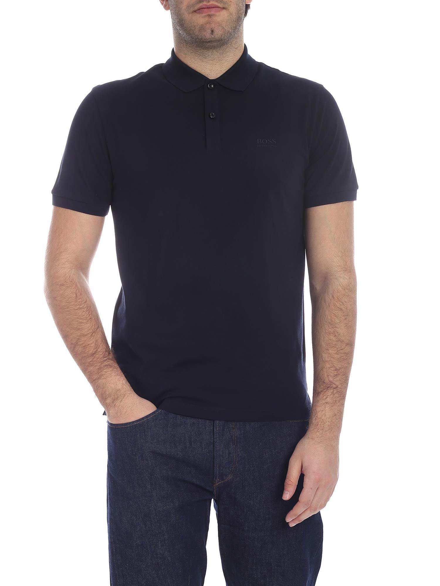 ff57f862 BOSS - Blue Cotton Polo Shirt for Men - Lyst. View fullscreen