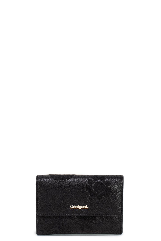4b29defd52 Desigual Black Polyurethane Wallet in Black - Lyst