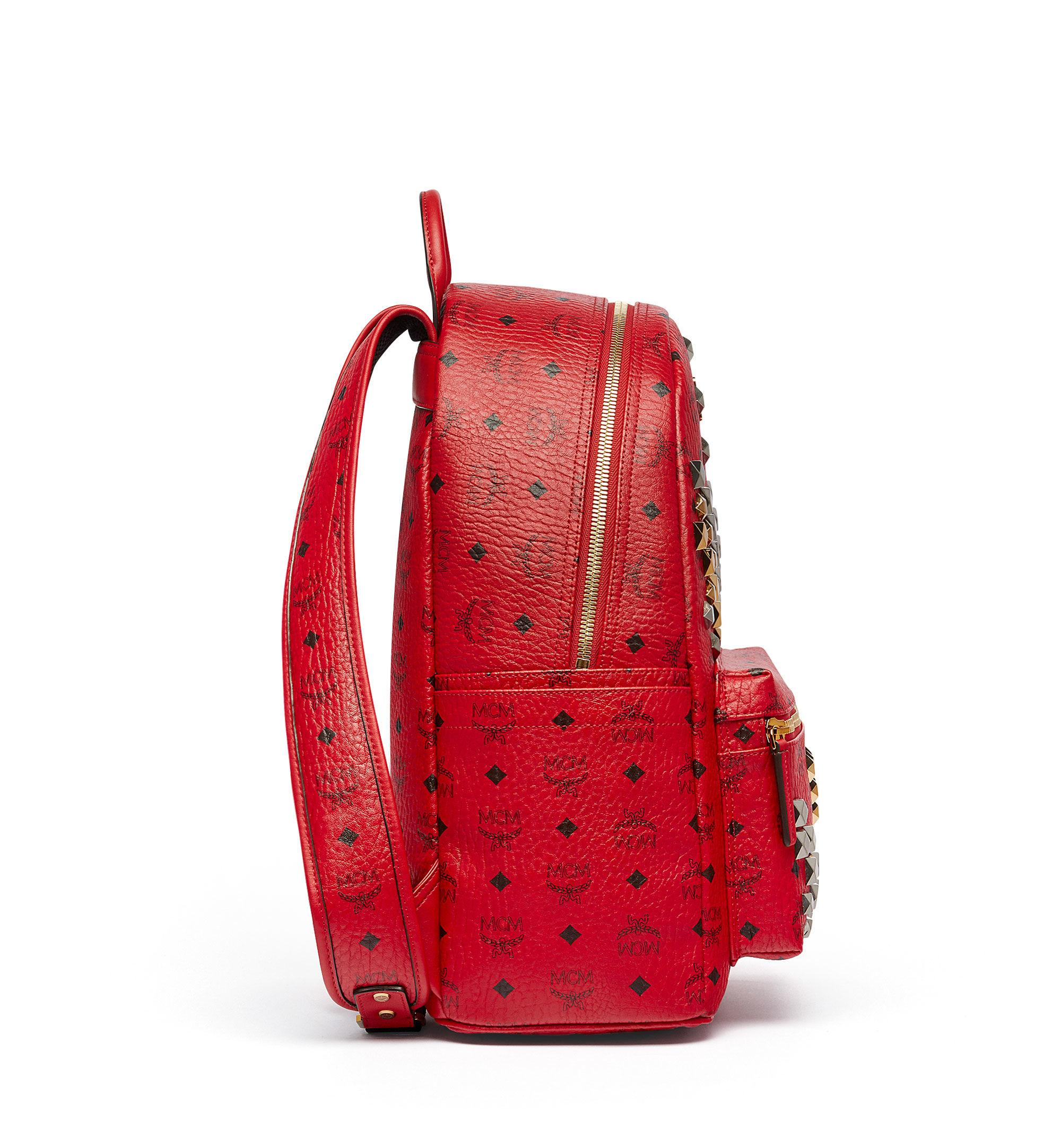 mcm stark small backpack in red lyst. Black Bedroom Furniture Sets. Home Design Ideas