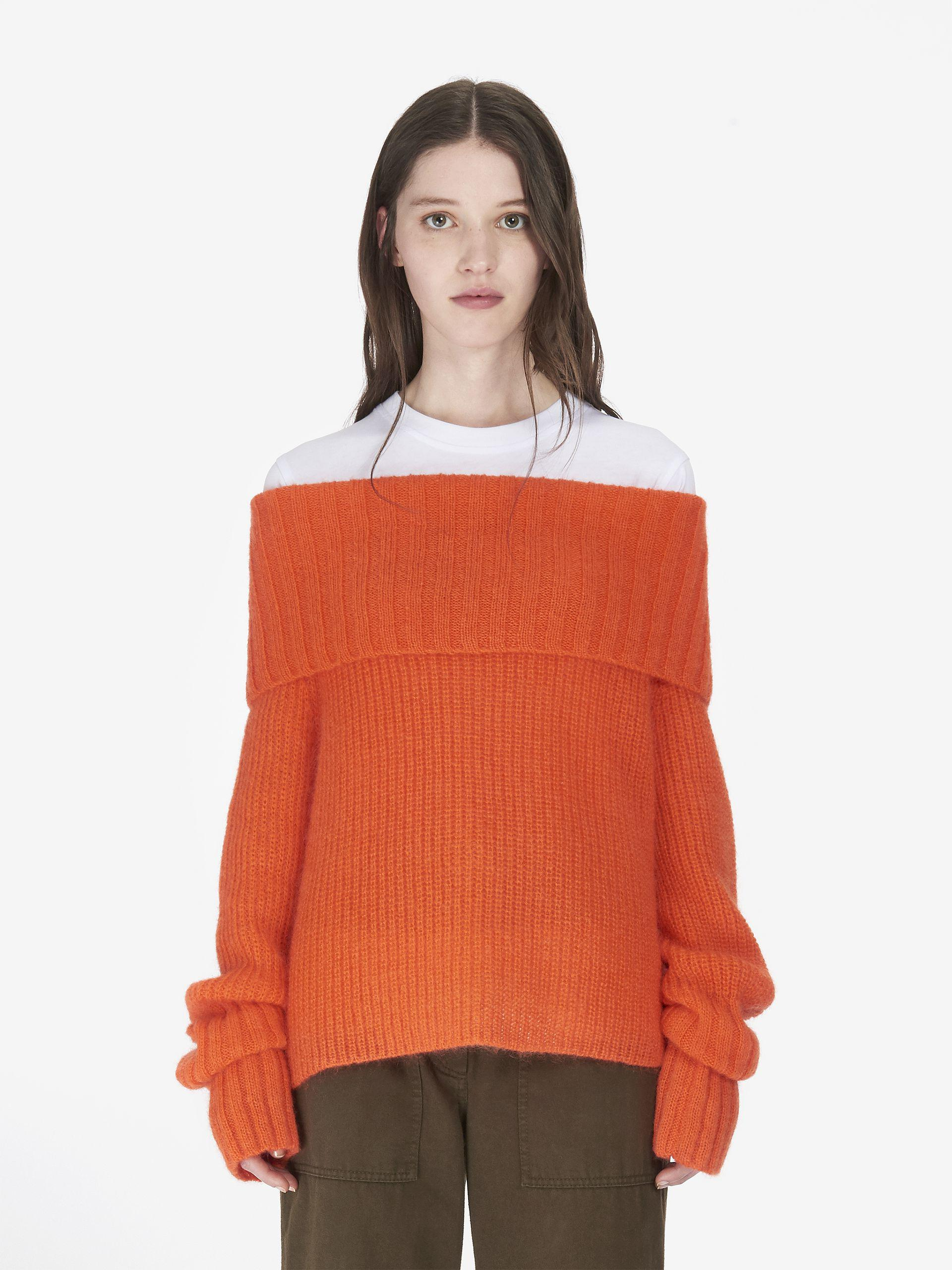 Lyst Mcq Alexander Mcqueen Cowl Neck Jumper In Orange