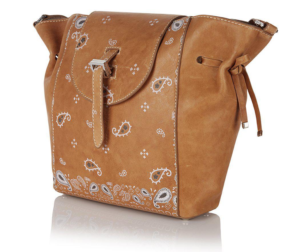 b67ddd9c9833 Lyst - Meli melo Fleming Medium Tote Bag Honey Nappa Bandana Print ...