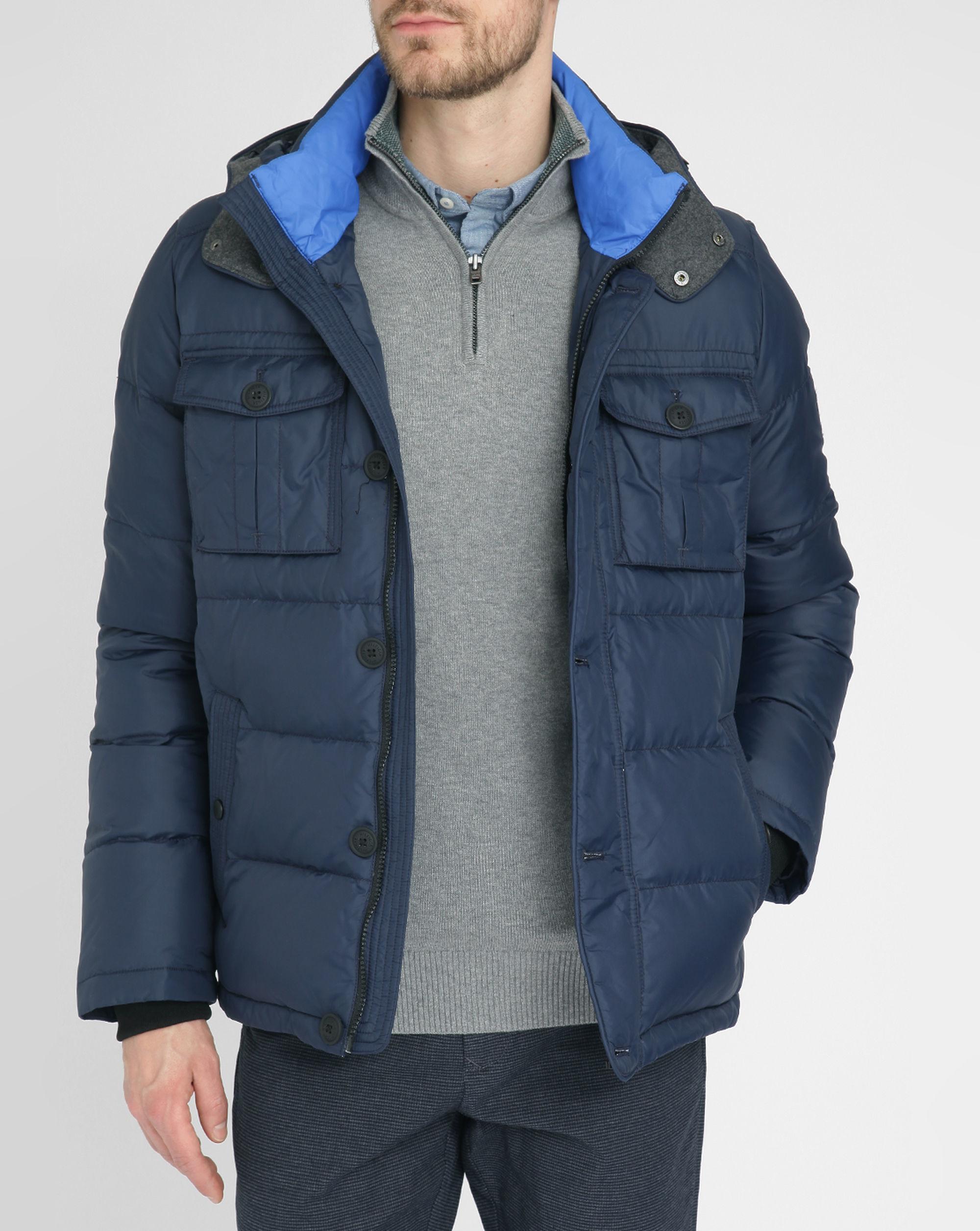 Tommy hilfiger new york patch pocket down jacket in blue