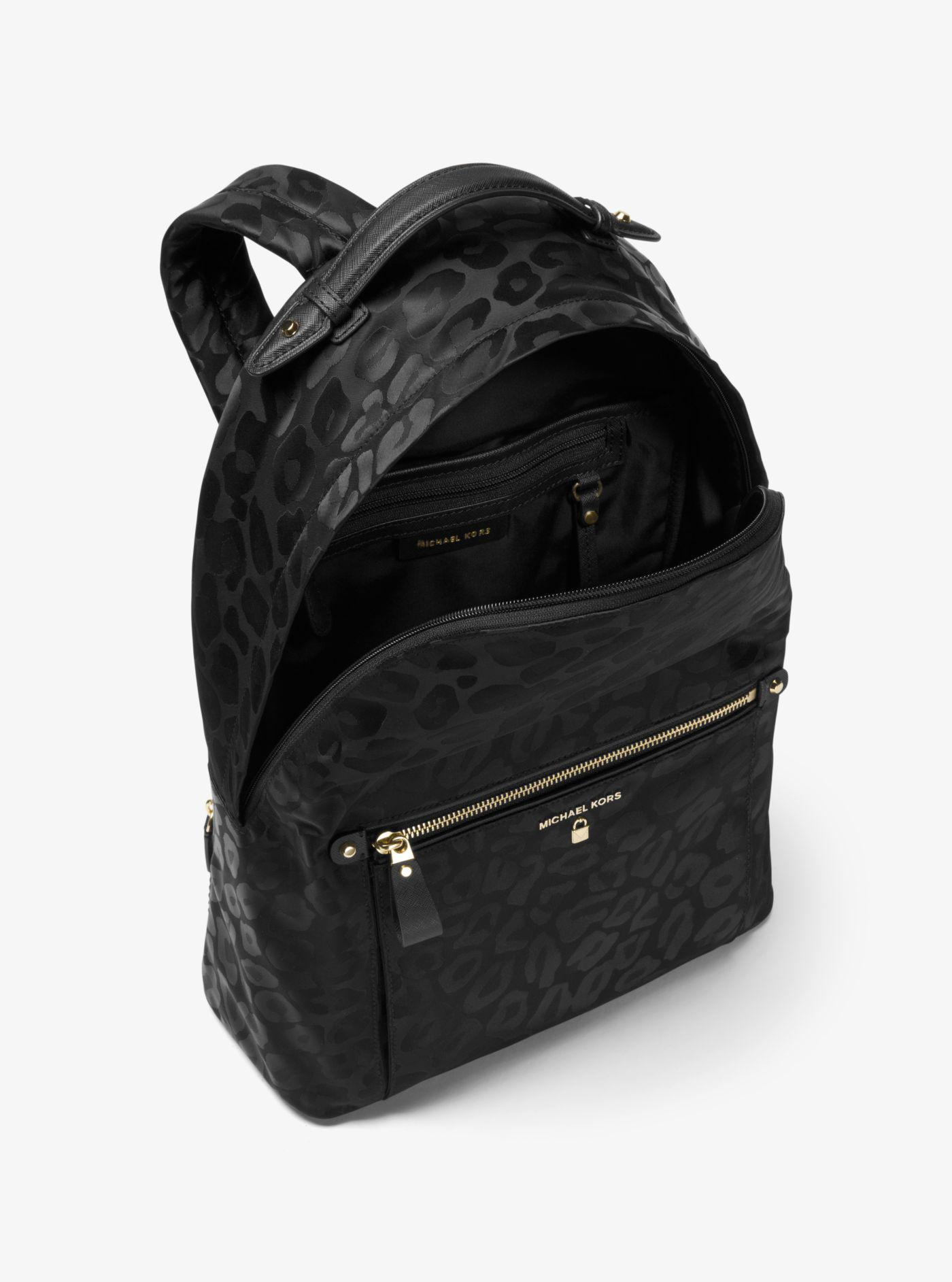 15f71b58f10d ... discount michael kors black kelsey large backpack lyst. view fullscreen  2063d 6485d
