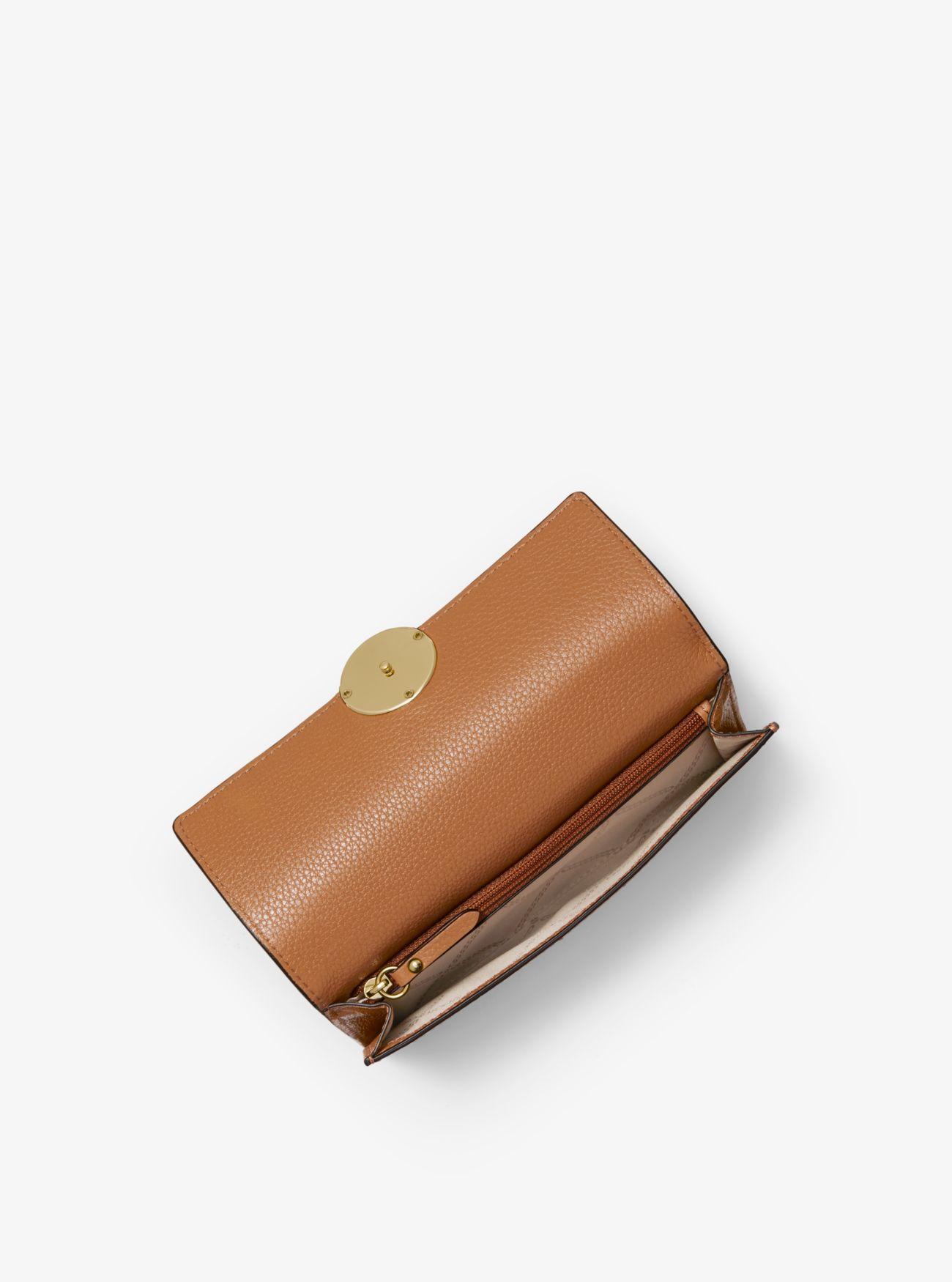 55e219f4247e Michael Kors - Brown Lillie Pebbled Leather Wallet - Lyst. View fullscreen