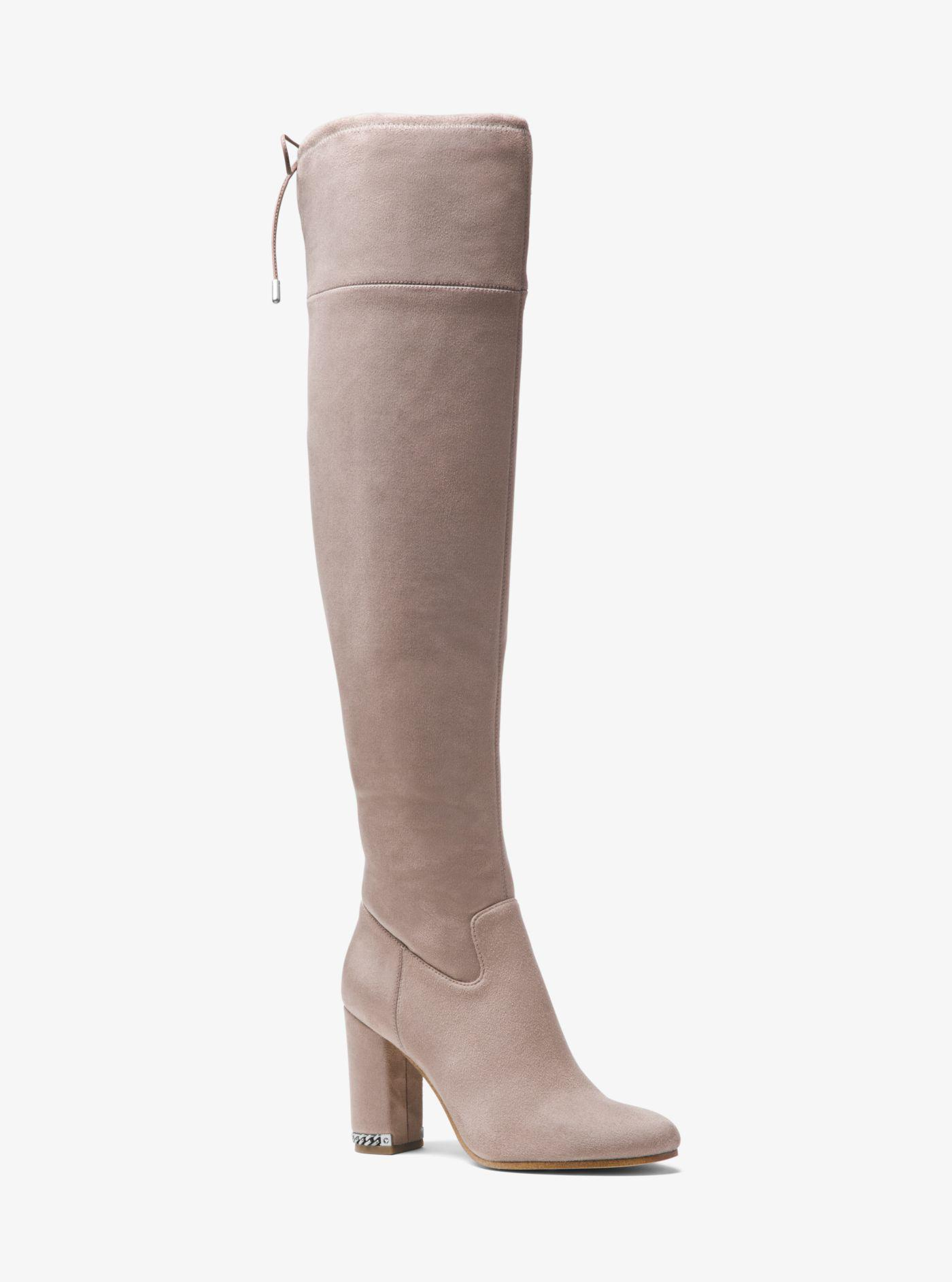 8e5a15de293 Lyst - Michael Kors Jamie Stretch Over-the-knee Block-heel Boot in Brown