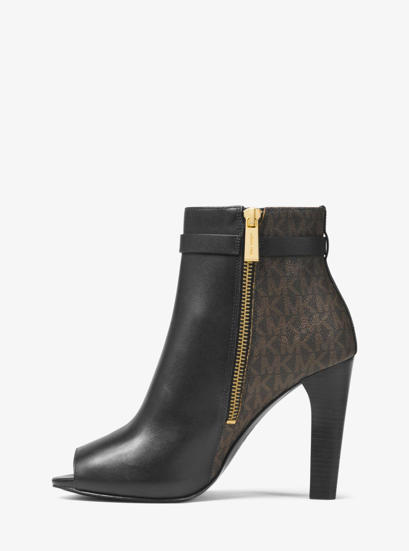 beautiful and charming great quality up-to-datestyling Winslow Leather And Logo Open-toe Ankle Boot
