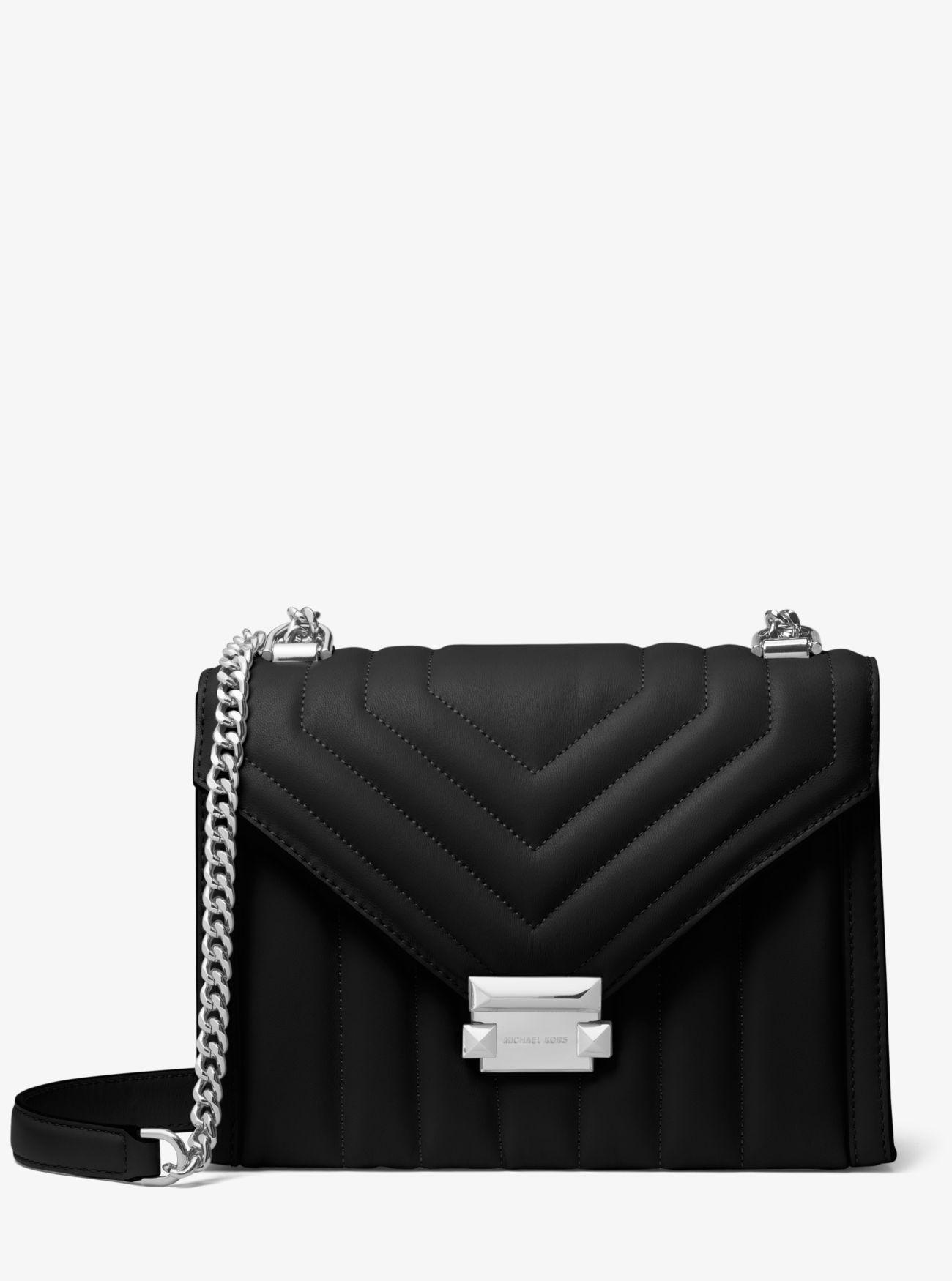 4cf1e952b2e6 Michael Kors. Women s Black Whitney Large Quilted Leather Convertible  Shoulder Bag