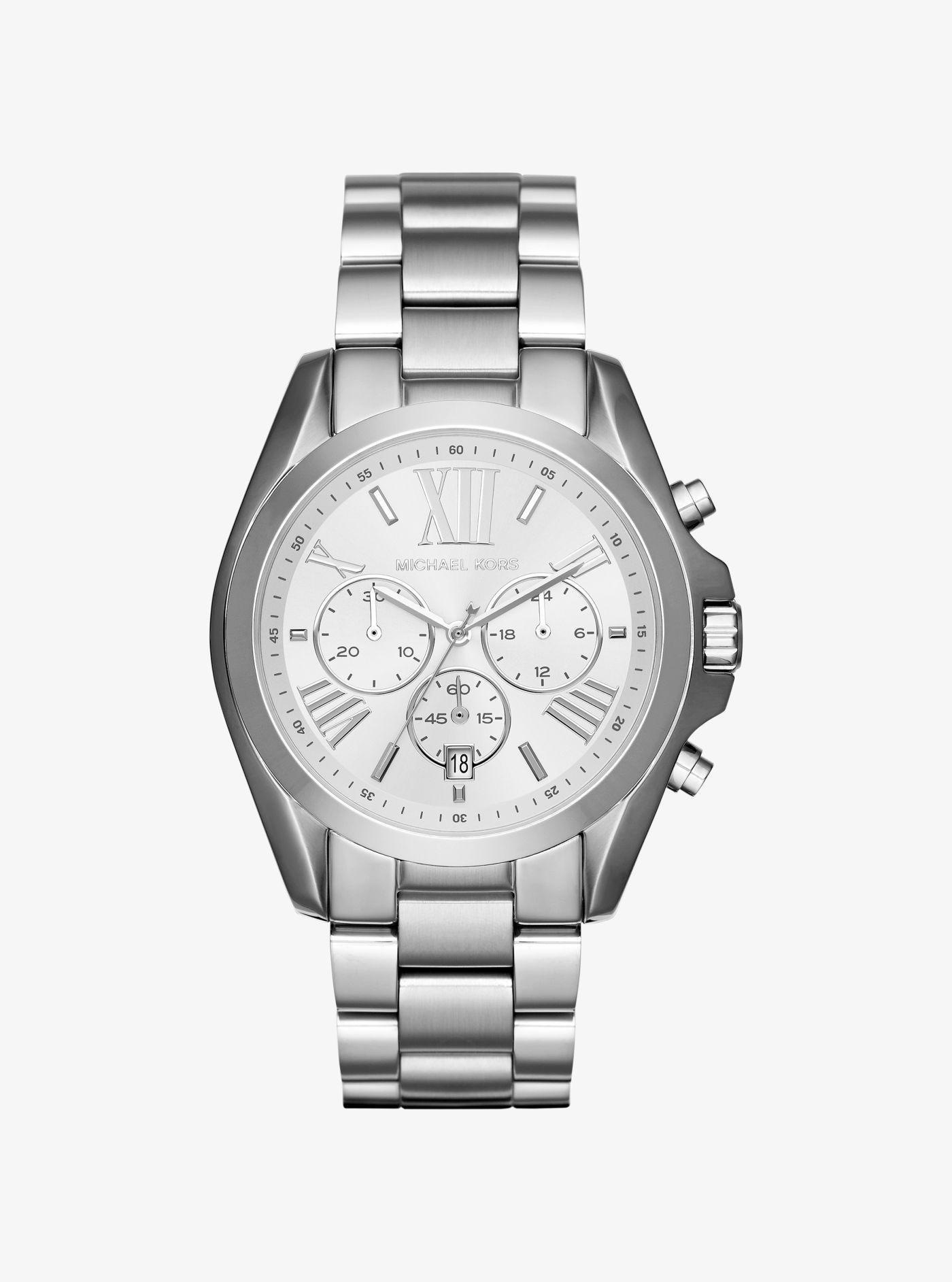 18326f9076ab Lyst - Michael Kors Oversize Bradshaw Silver-tone Watch in Metallic