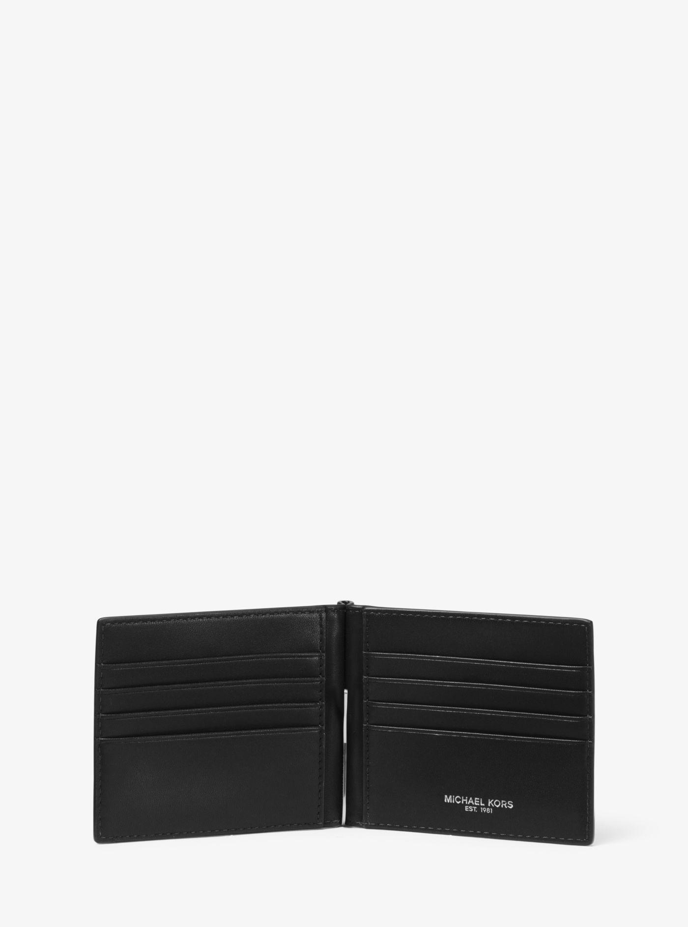 7496f3828a5c Lyst - Michael Kors Odin Leather Money Clip Wallet in Black for Men