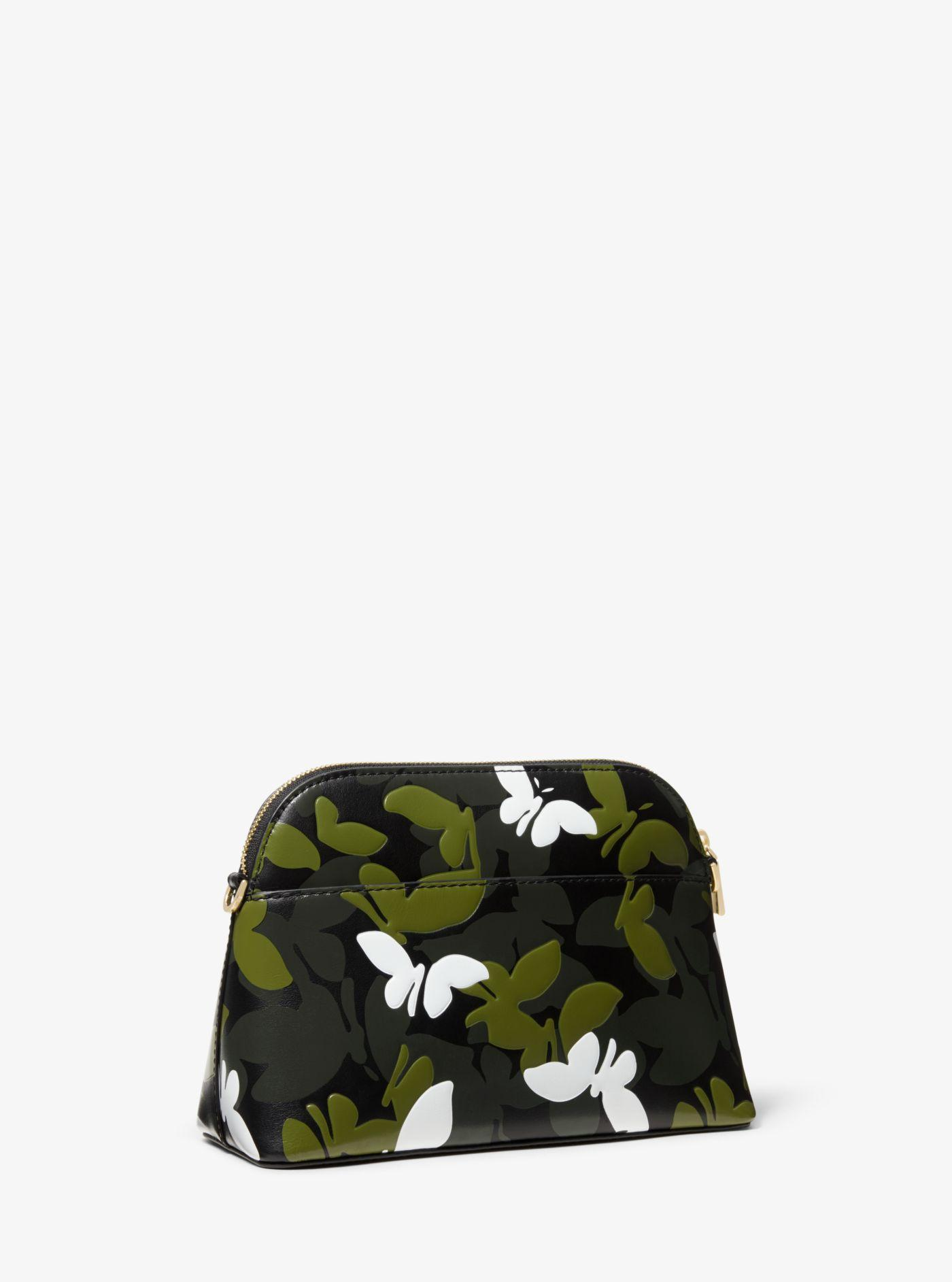 a7f131719e57 Michael Kors - Black Large Butterfly Camo Leather Dome Crossbody - Lyst.  View fullscreen