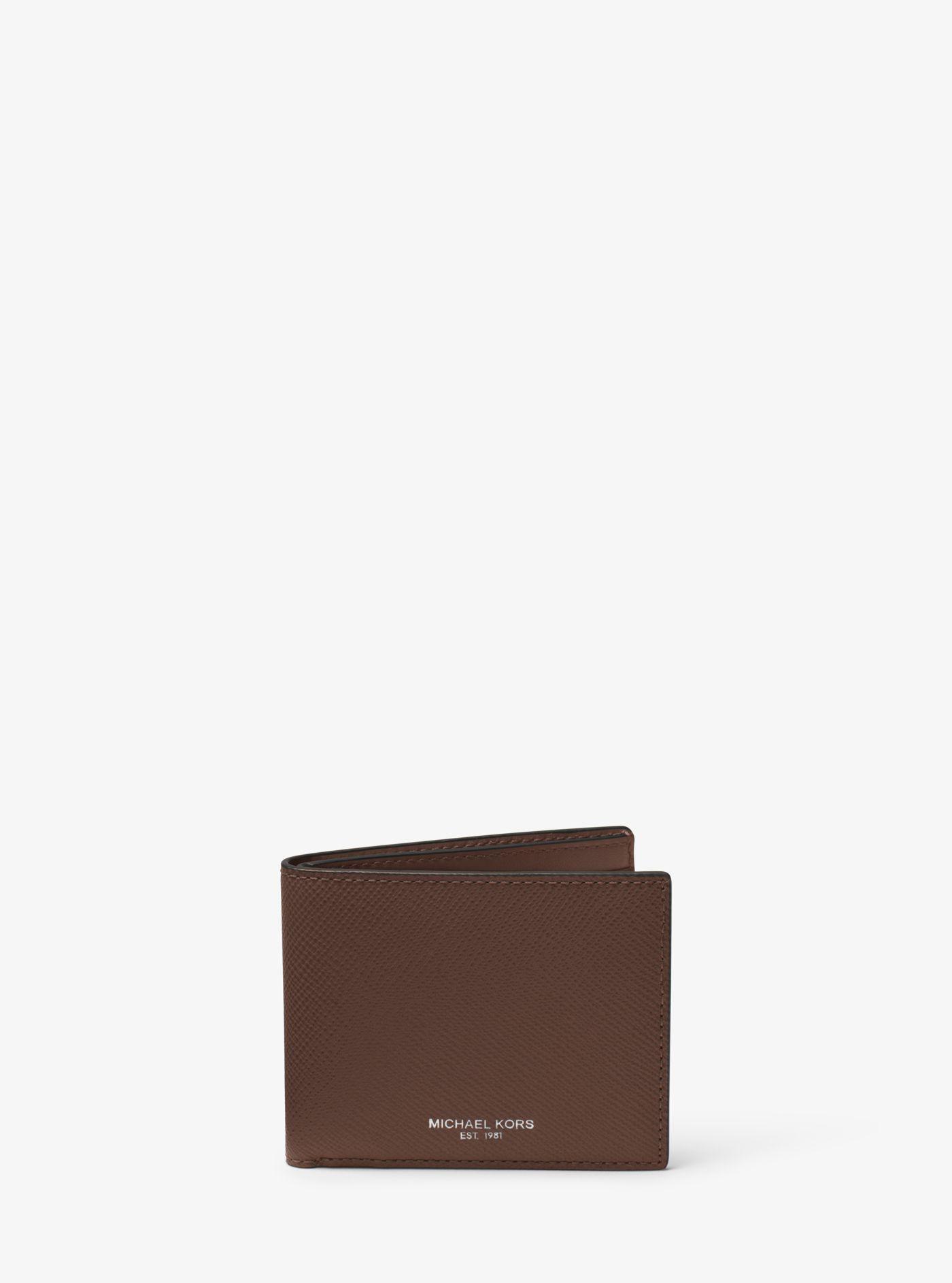 13fb3261513c Michael Kors Harrison Leather Slim Billfold Wallet in Brown for Men ...
