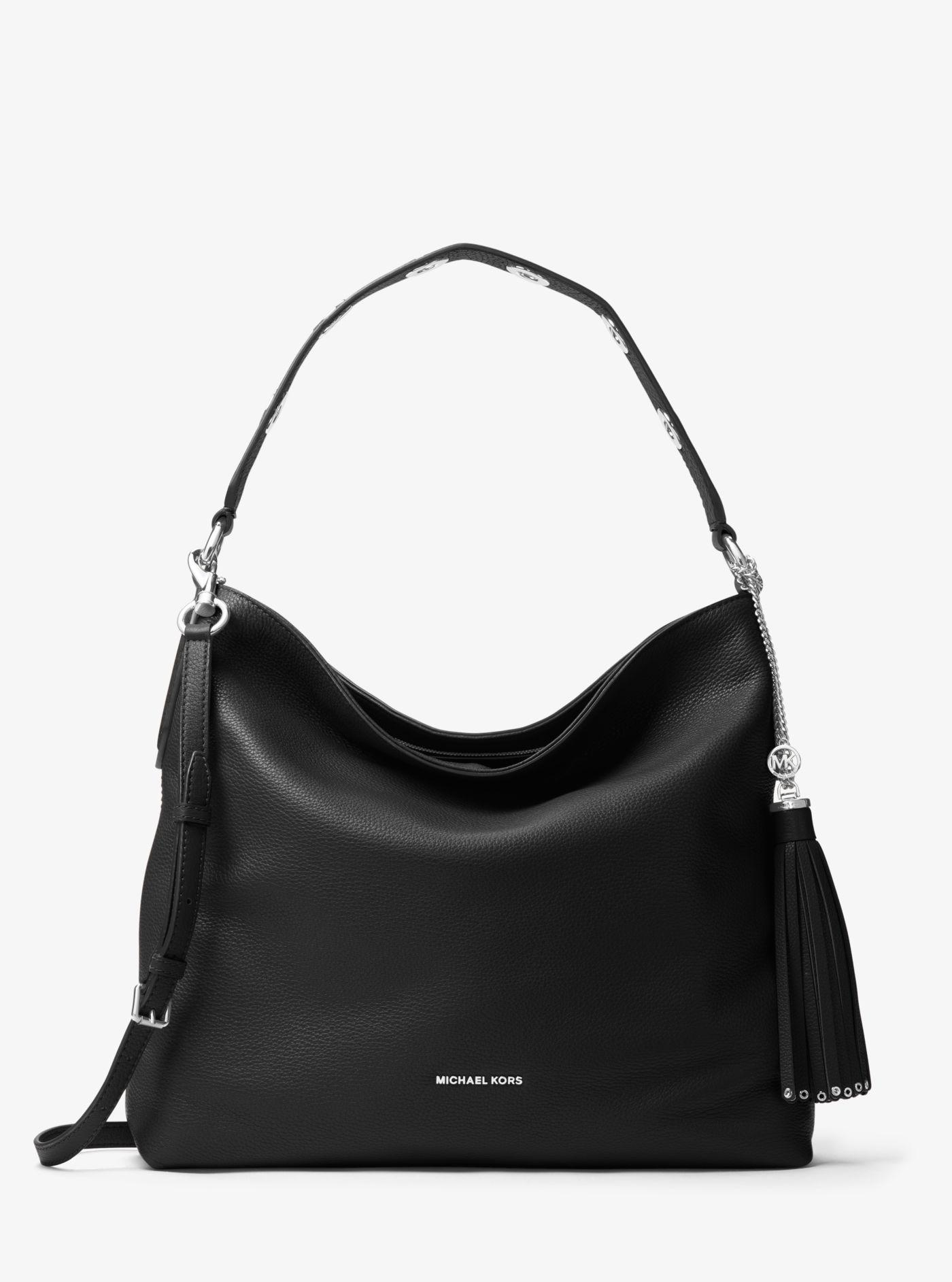 c5d8bfa540cd Michael Kors - Black Brooklyn Large Leather Shoulder Bag - Lyst. View  fullscreen
