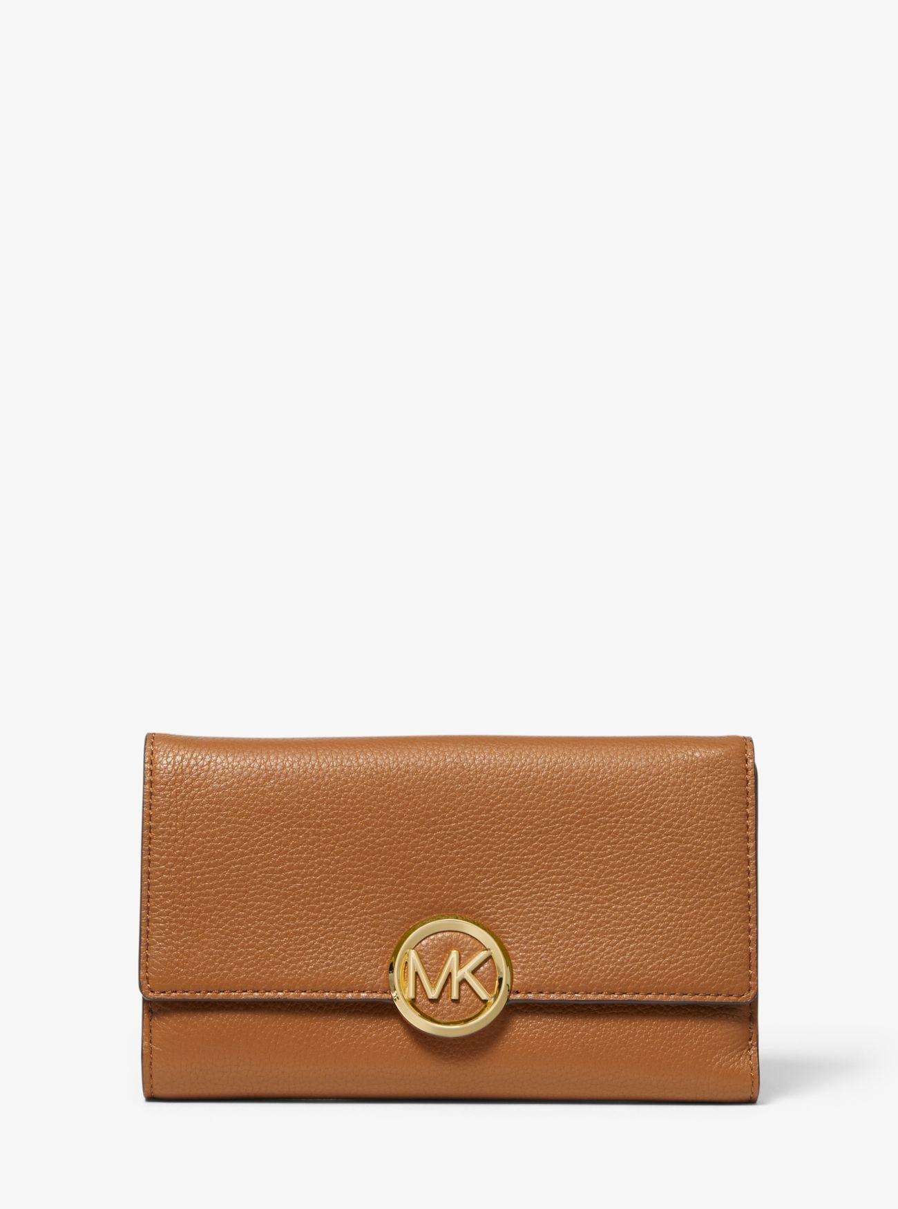 071243696e97 Michael Kors Lillie Pebbled Leather Wallet in Brown - Lyst