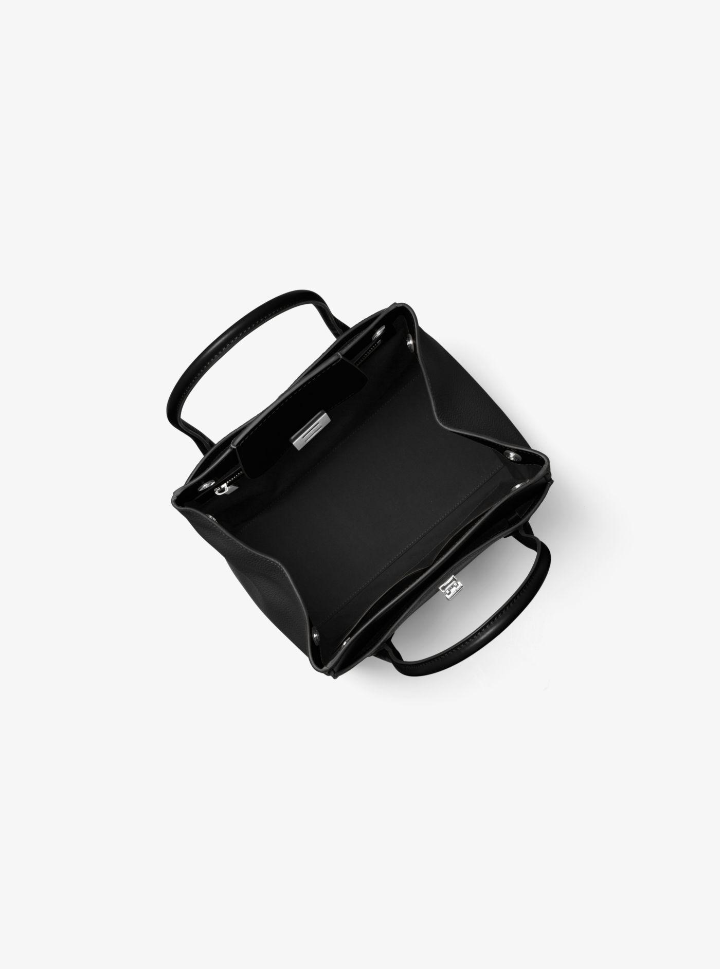 8617cbdb512c Michael Kors - Black Bancroft Medium Pebbled Calf Leather Satchel - Lyst.  View fullscreen