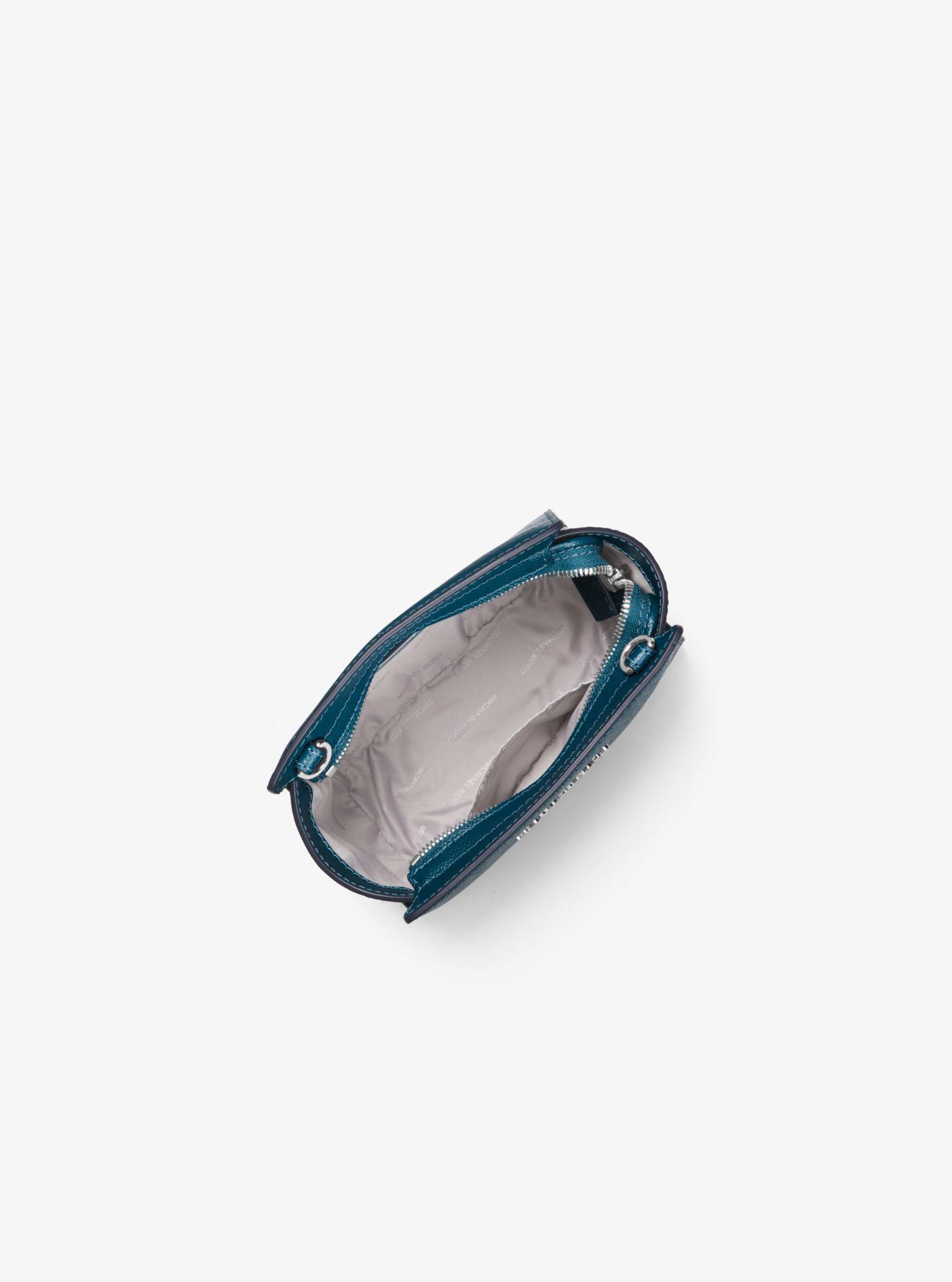 Lyst - Michael Kors Selma Mini Crossgrain Leather Crossbody in Blue e3916c5ee733e