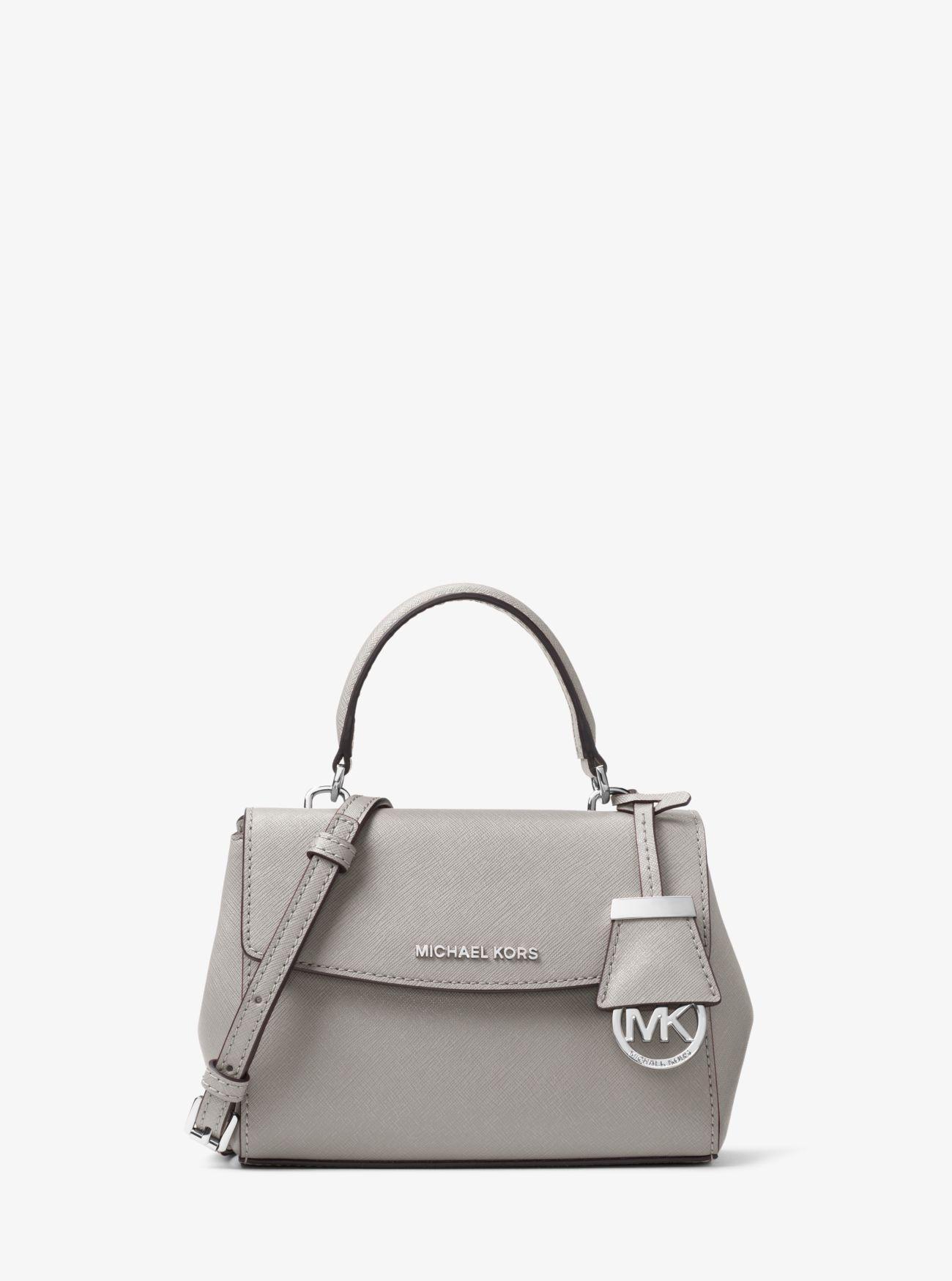 25d3106fc790 Michael Kors - Gray Ava Extra-small Saffiano Leather Crossbody Bag - Lyst.  View fullscreen