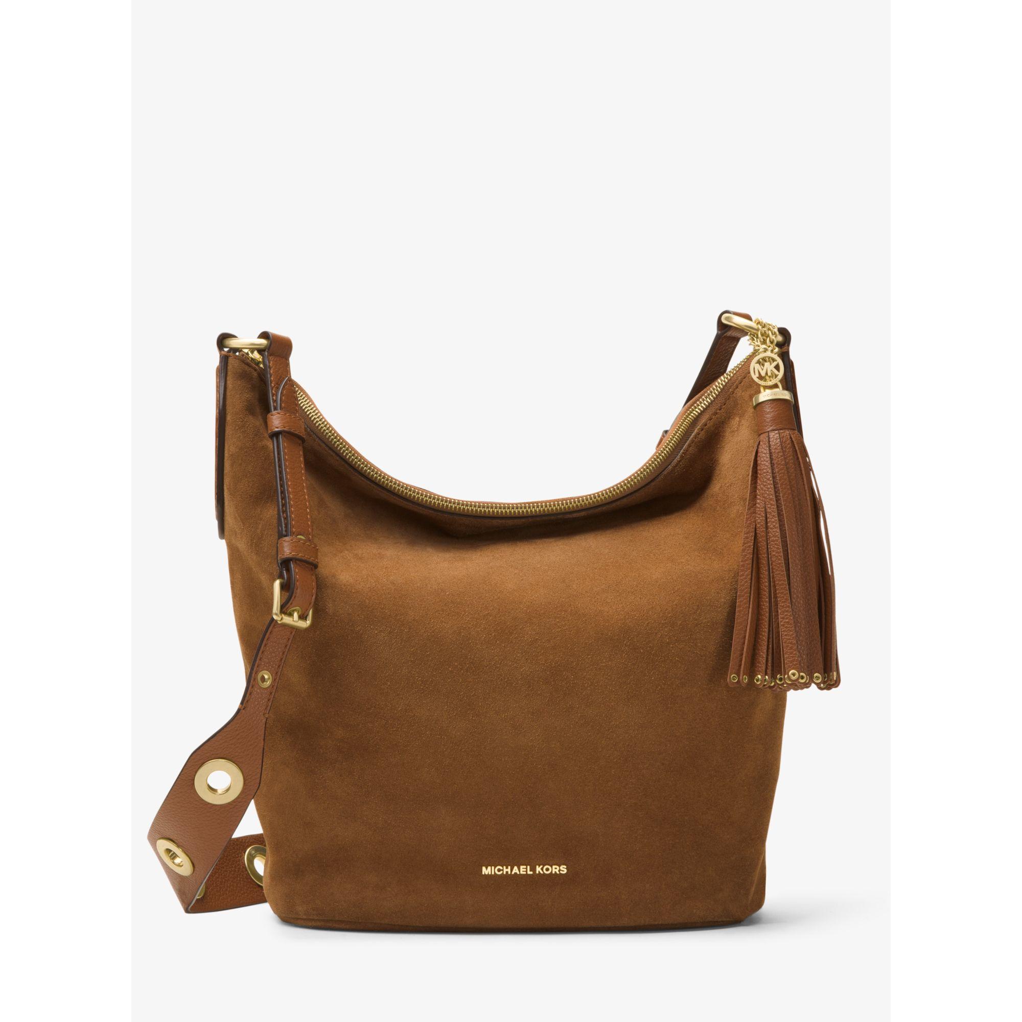 38be387bedf5 shopping michael kors handbag suede large brooklyn dc48e 383f8
