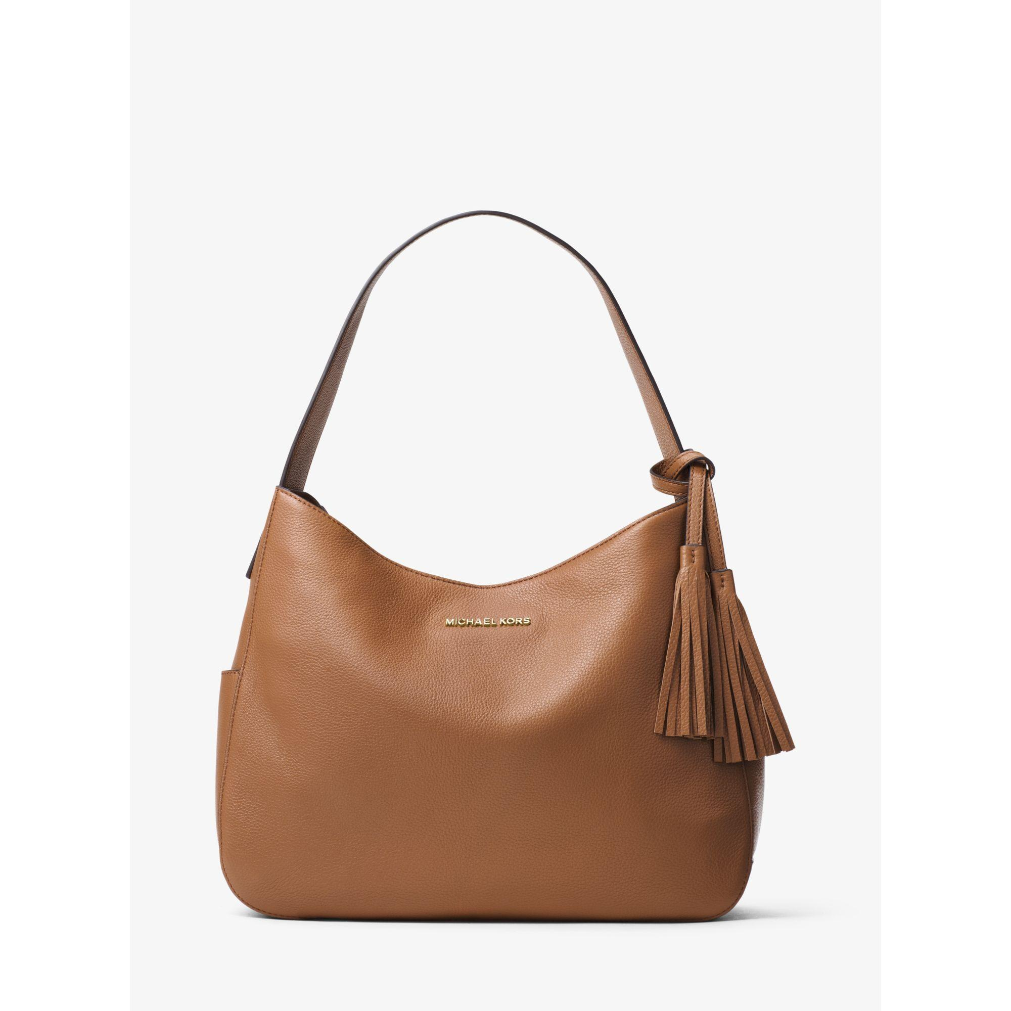 eb7f5293ea84 Lyst - Michael Kors Ashbury Large Leather Shoulder Bag in Brown
