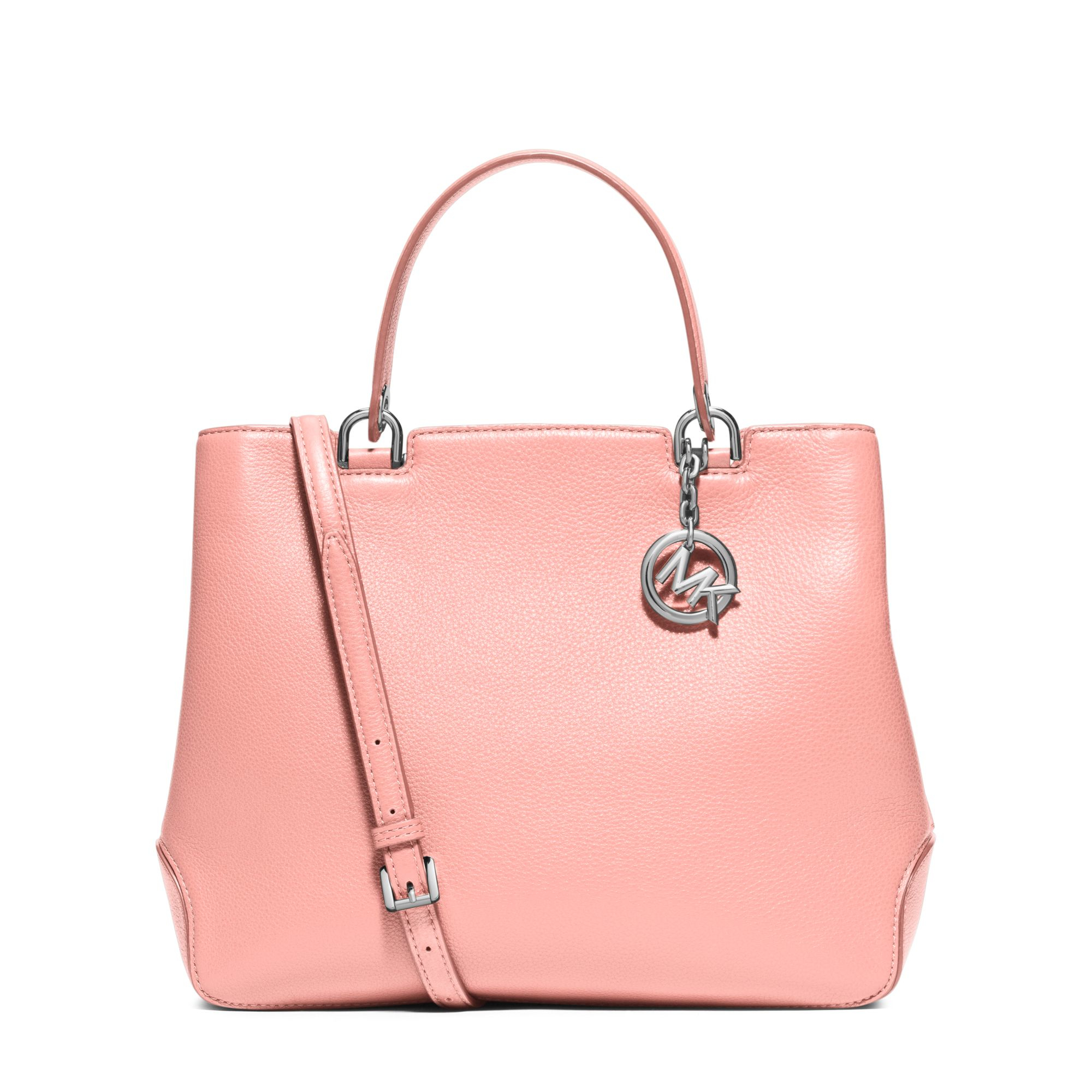 3dd8e8a3c6e0c Lyst - Michael Kors Anabelle Large Leather Tote in Pink