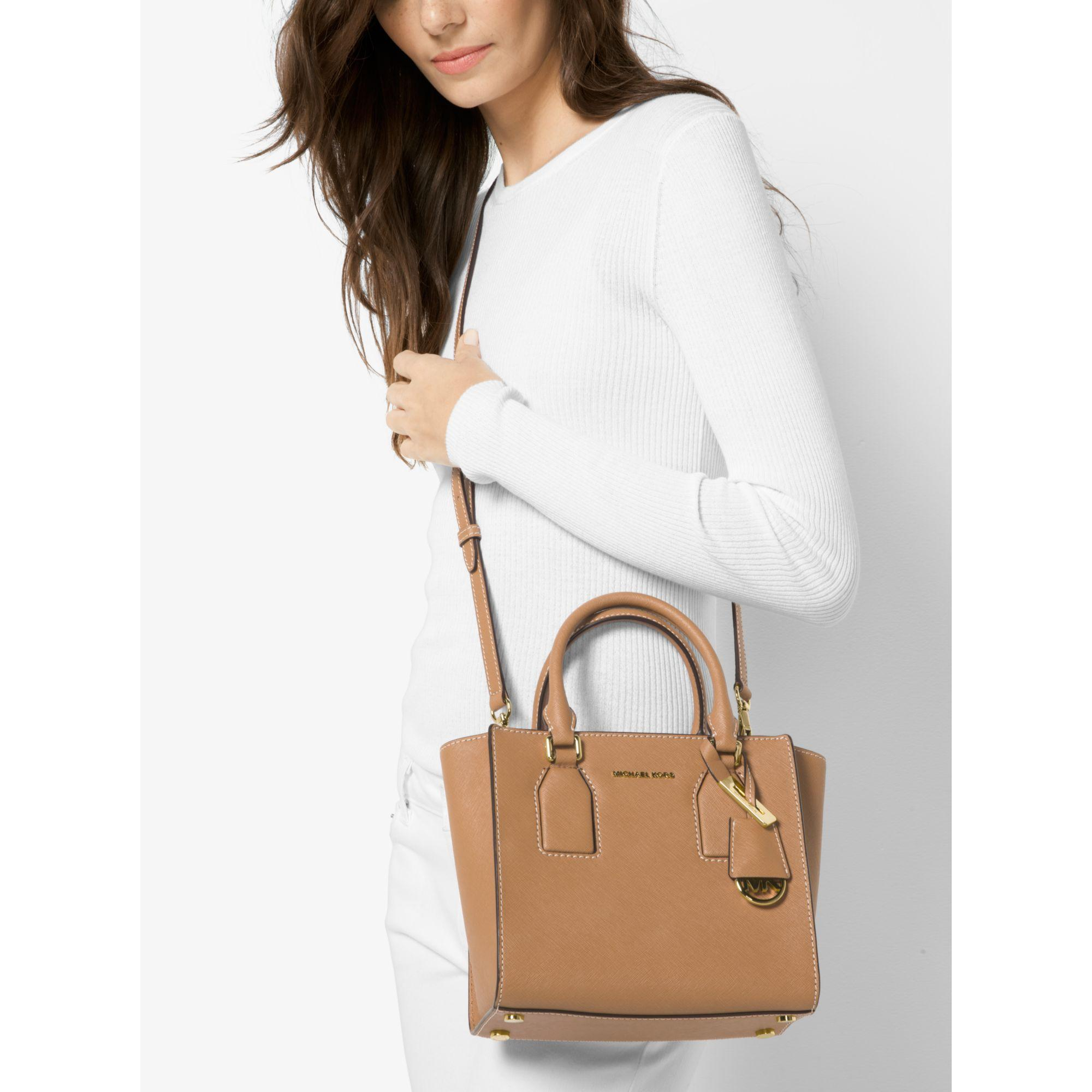 621475c689 Michael Kors Selby Leather Messenger - Lyst