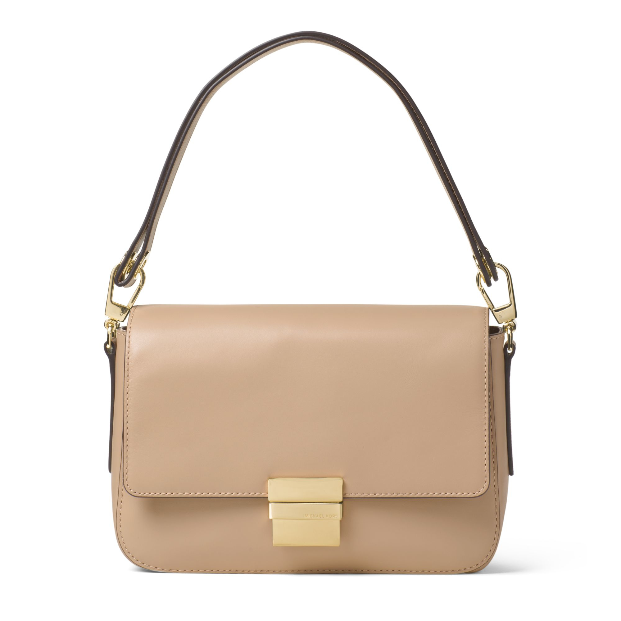 0051a04f11ad8 order michael kors madelyn large leather shoulder bag in natural lyst fd2dc  2af26