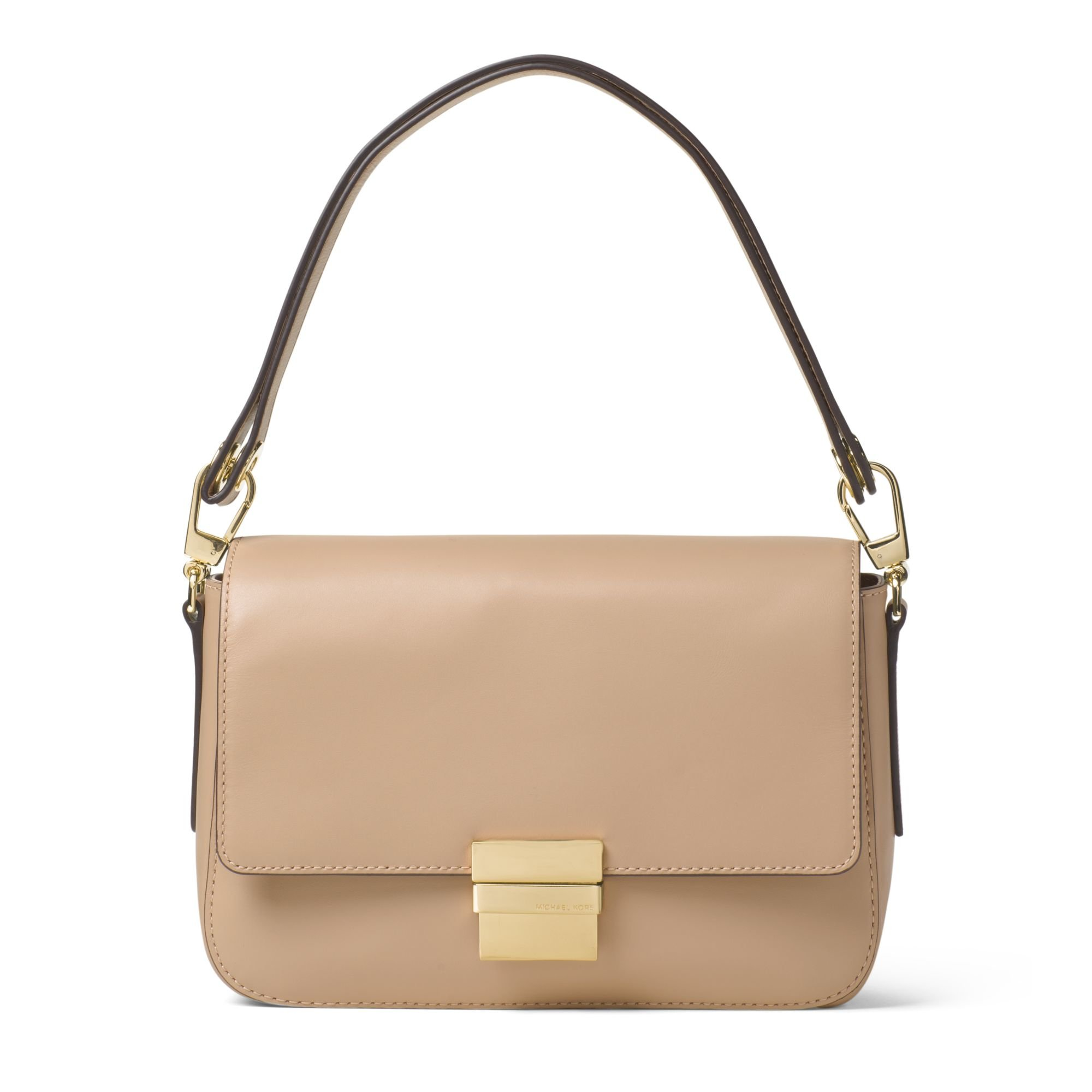 e4fc577831b1 ... white small 95589 aa79d; order michael kors madelyn large leather  shoulder bag in natural lyst fd2dc 2af26