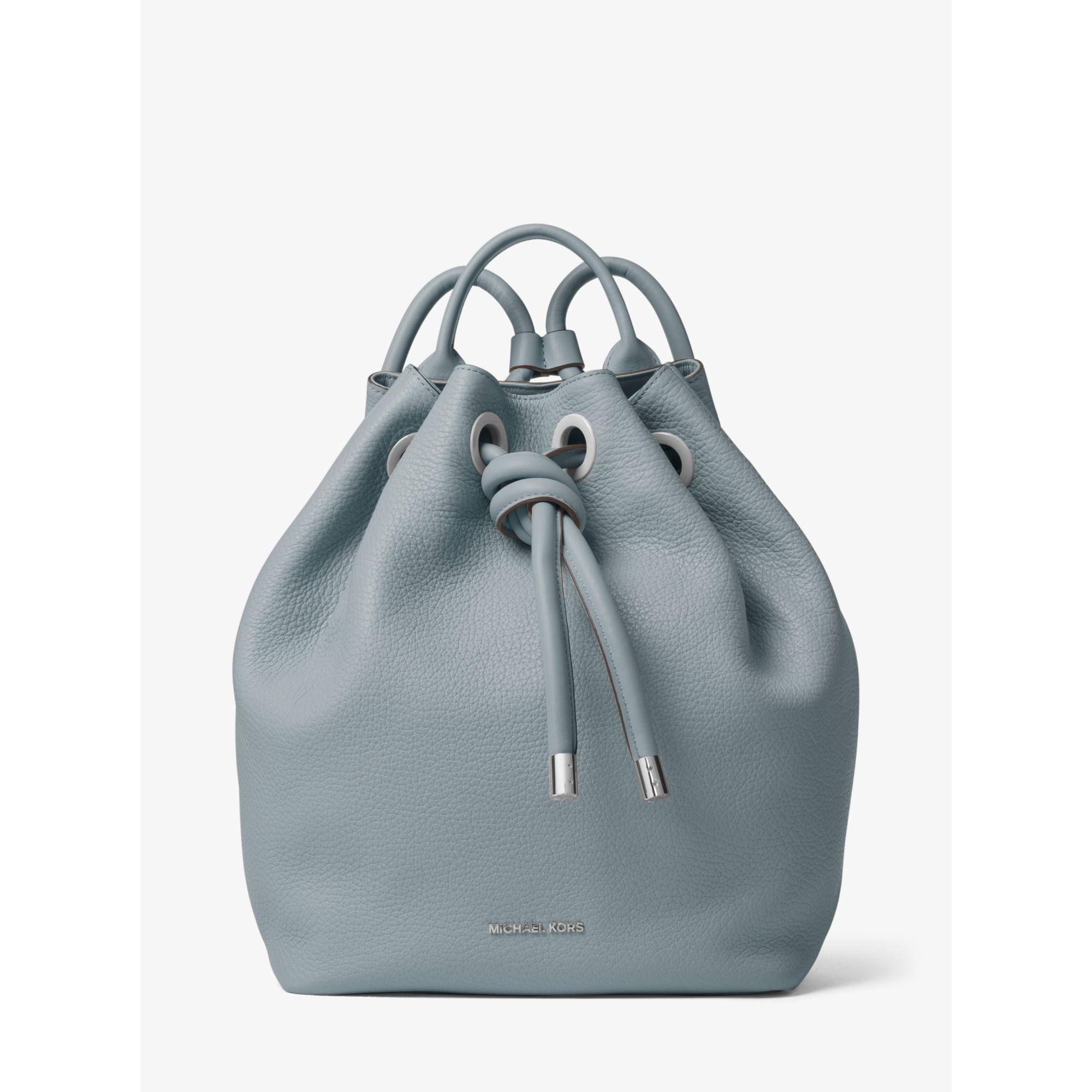 6ff3d476340c Lyst - Michael Kors Dalia Large Leather Backpack in Blue
