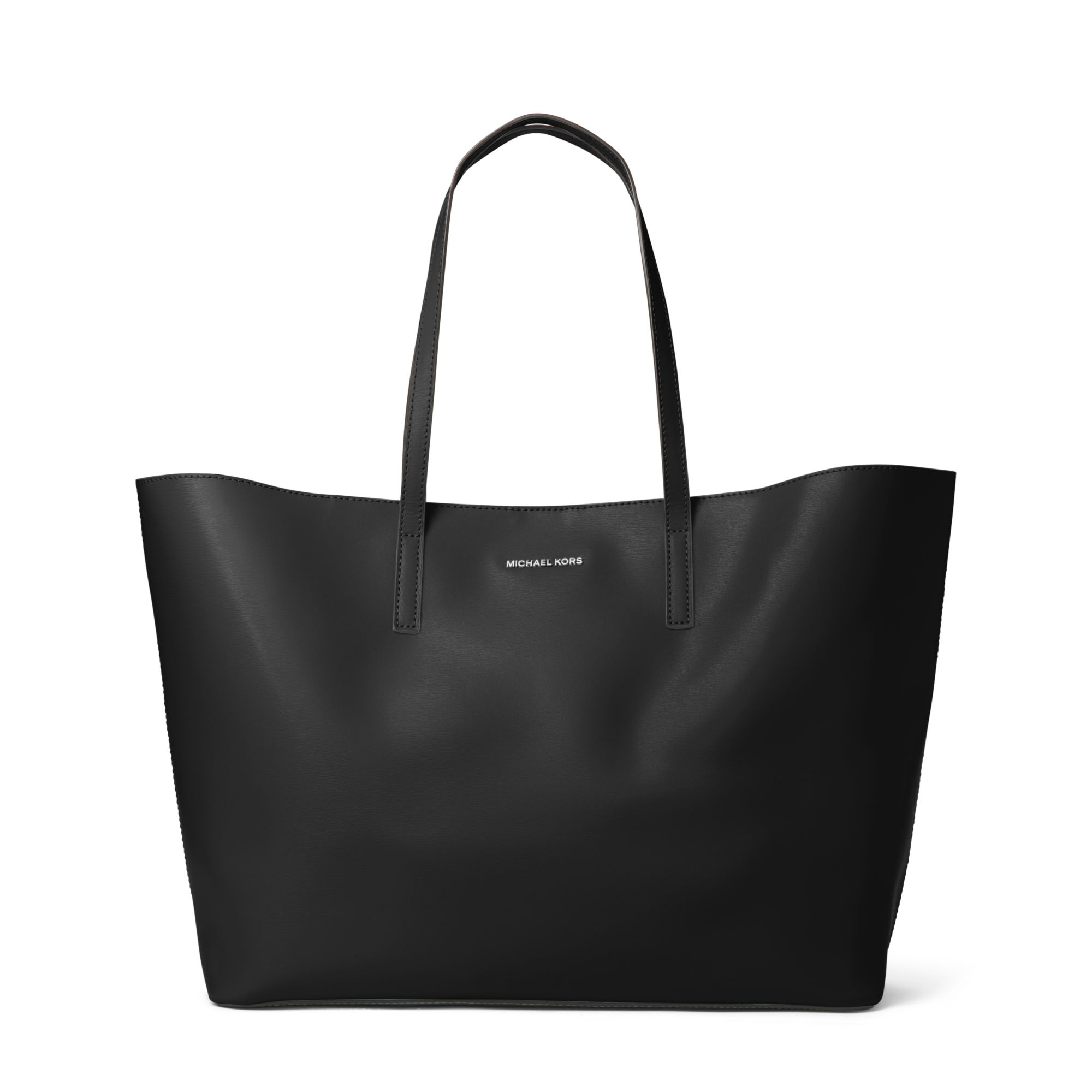73d5fd665e4f12 Michael Kors Emry Extra-Large Leather Tote in Black - Lyst