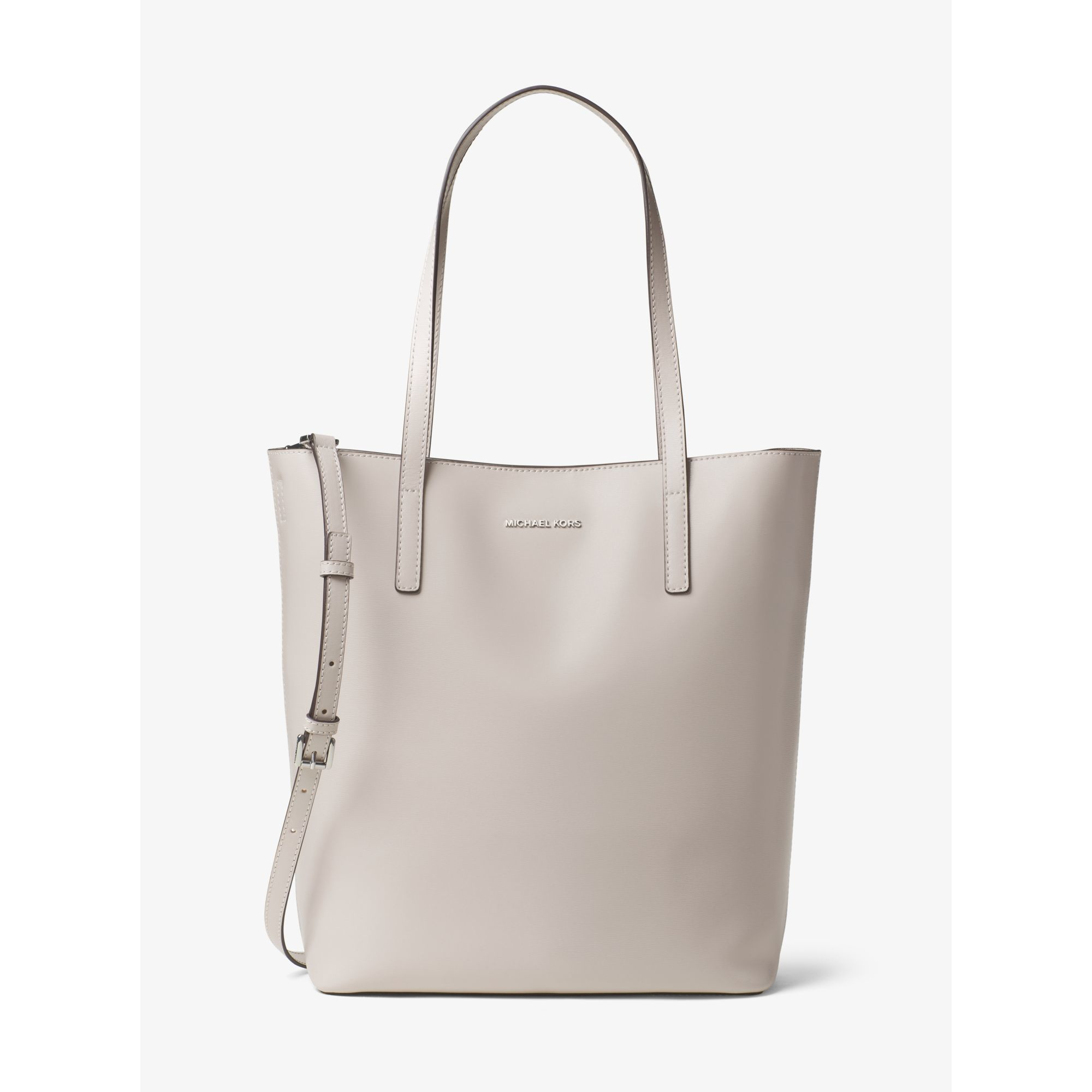 e16afd835d ... Michael kors Emry Large Leather Tote in Gray Lyst ...