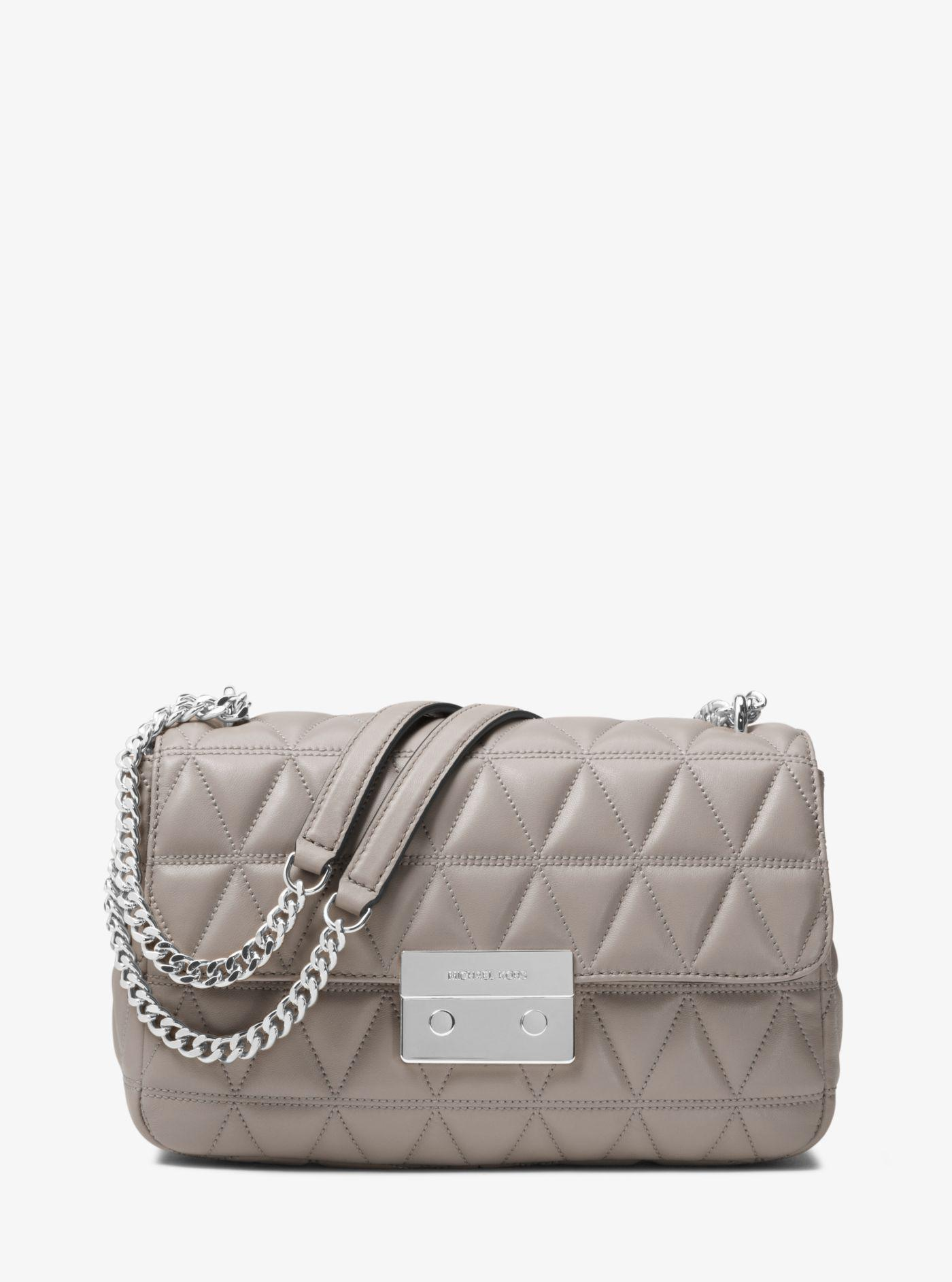 4554d4f94178 Michael Kors Sloan Large Quilted-leather Shoulder Bag in Gray - Lyst