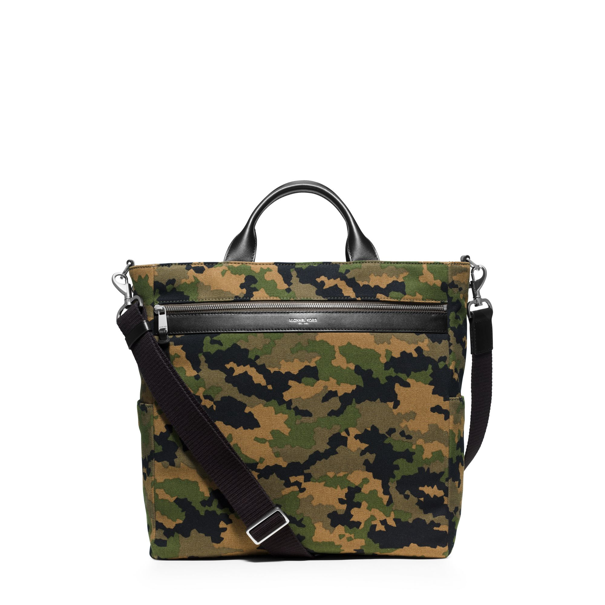 aba1d110136f Lyst - Michael Kors Grant Camouflage Bonded-canvas Tote in Green for Men