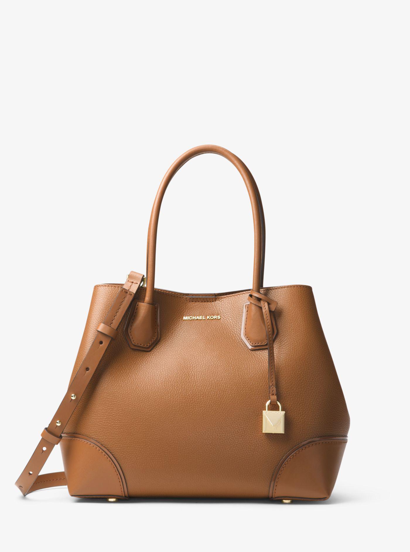 Michael Kors - Brown Mercer Gallery Medium Leather Tote - Lyst. View  fullscreen ea67d8daefffa