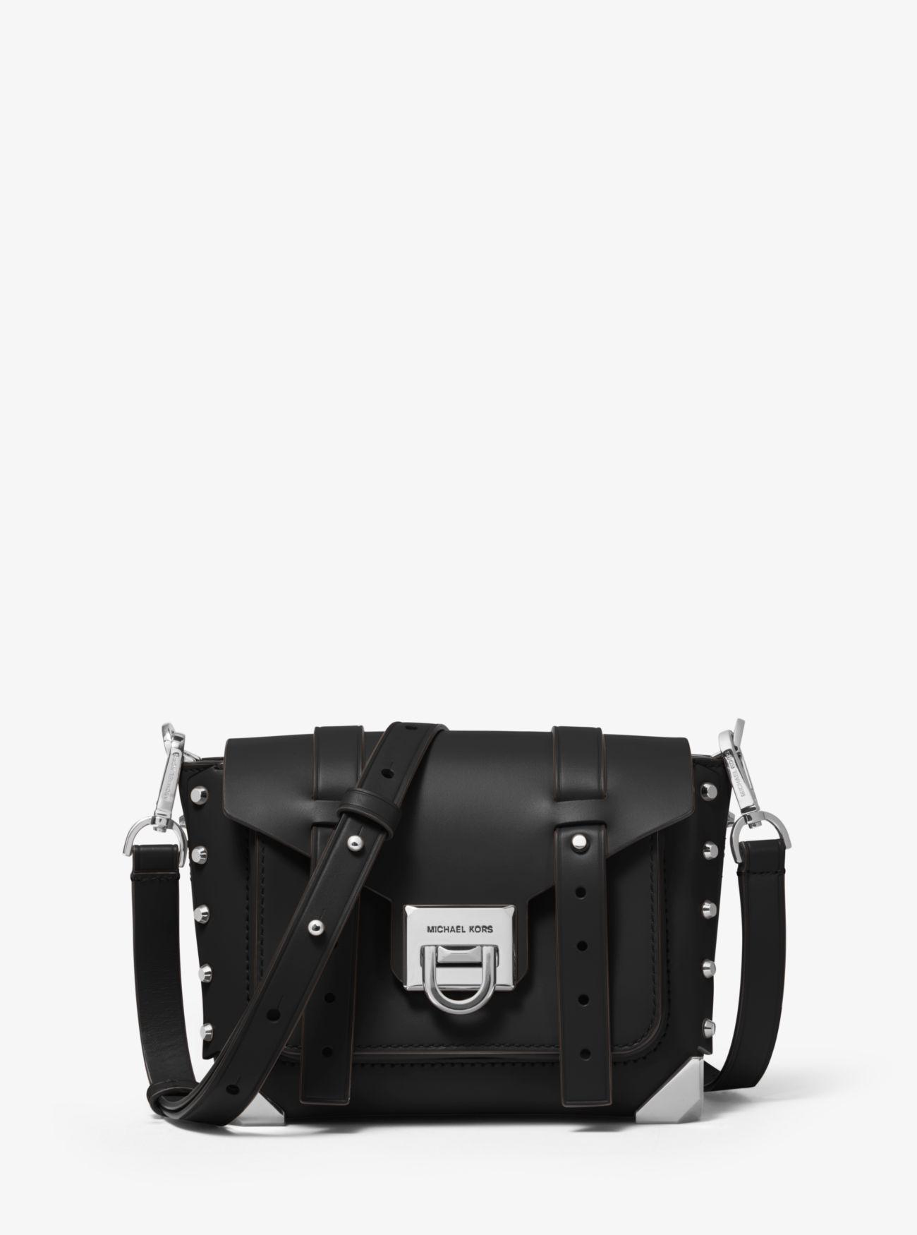 d81683fc6d66 MICHAEL Michael Kors. Women s Black Manhattan Small Leather Crossbody Bag