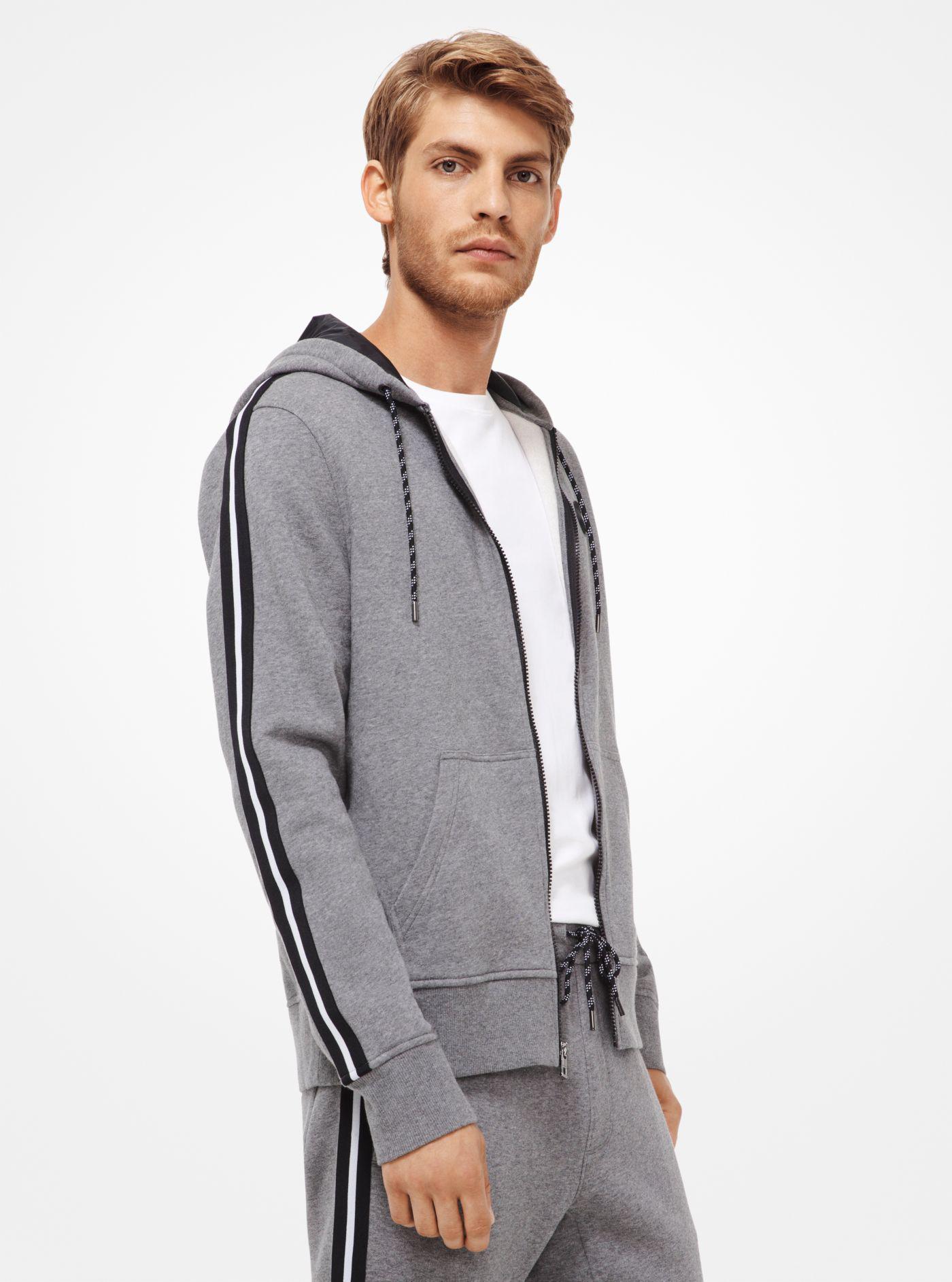 6de18c480fee3 Michael Kors Fleece Zip-up Hoodie in Gray for Men - Lyst