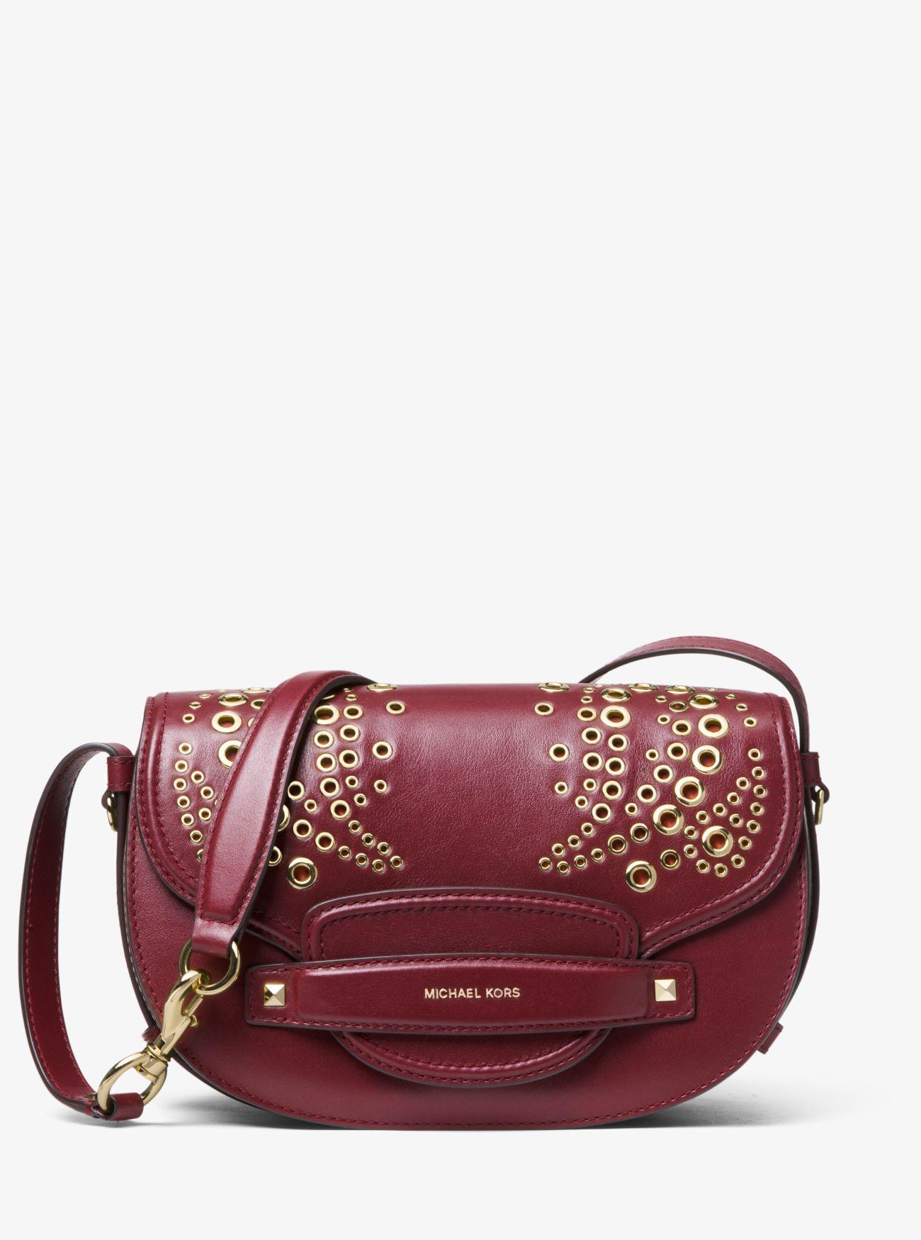 4310e657d MICHAEL Michael Kors Cary Medium Saddle Bag (oxblood) Bags - Lyst